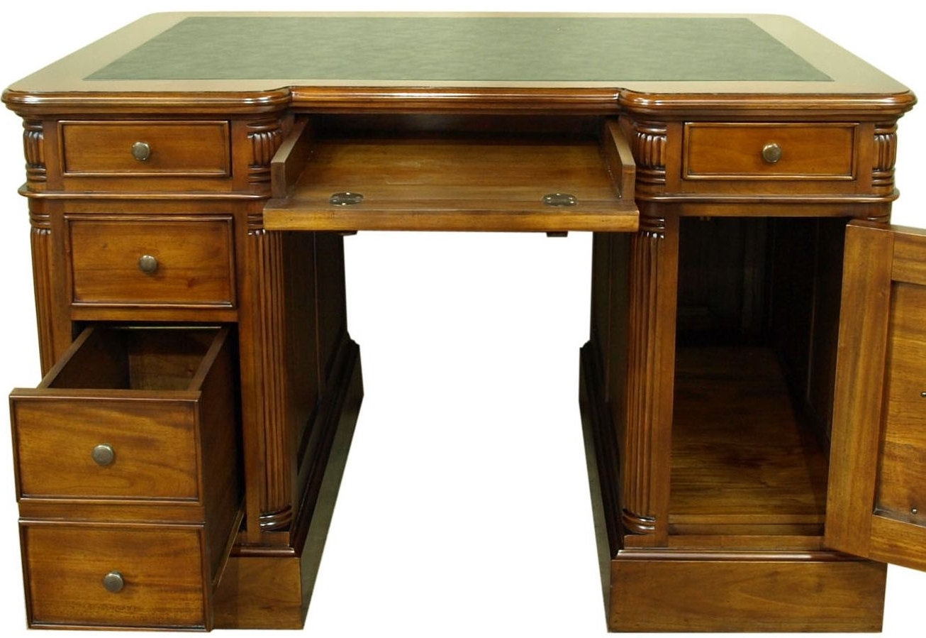 Newest Solid Wood Computer Desks Intended For Small Solid Wood Desk With Drawers • Drawer Ideas (View 4 of 20)