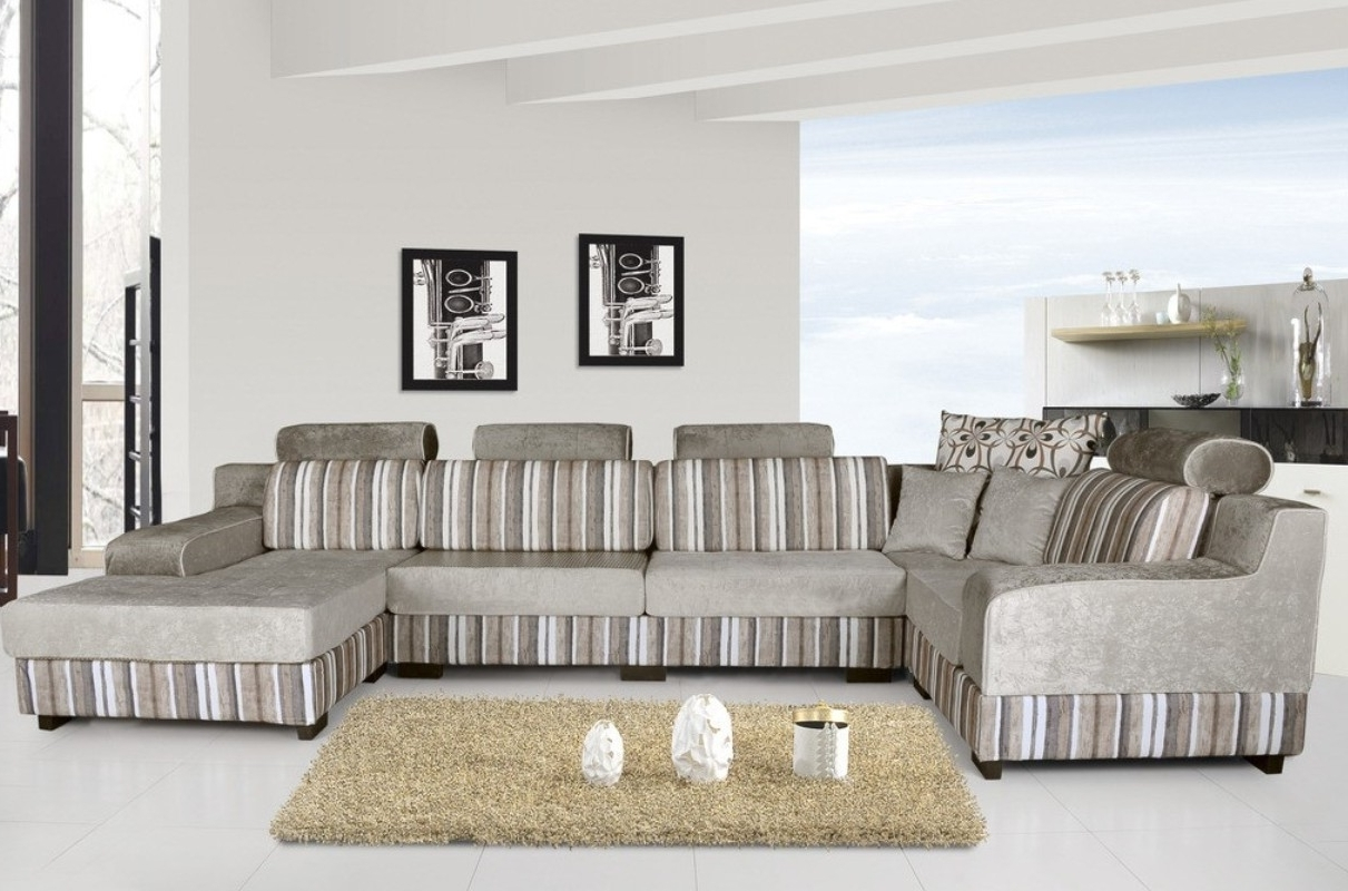 Newest Striped Sofas And Chairs Throughout Livingroom : Adorable Enamour Blue Living Room Ideas Also Classic (View 8 of 20)