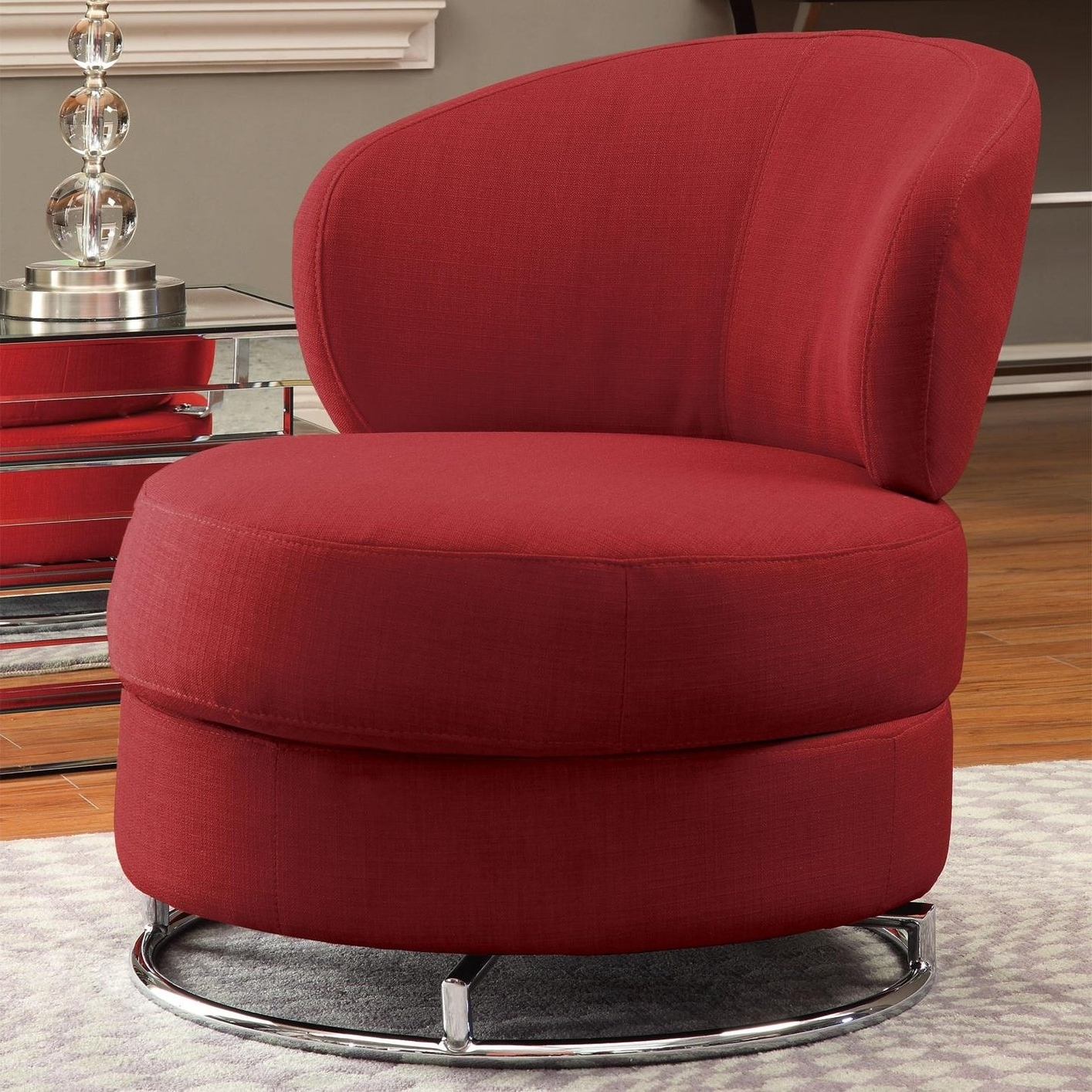 Newest Swivel Sofa Chairs Pertaining To Red Fabric Swivel Chair – Steal A Sofa Furniture Outlet Los Angeles Ca (View 11 of 20)