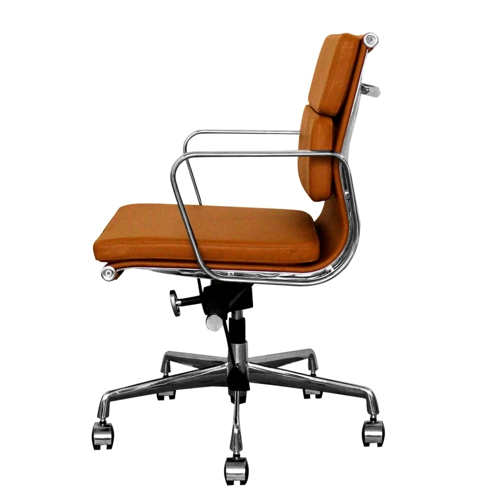Newest Tan Brown Mid Back Executive Office Chairs Regarding Furniture : Tan Office Chair Tan Office Chair' Tan Fabric Office (View 8 of 20)