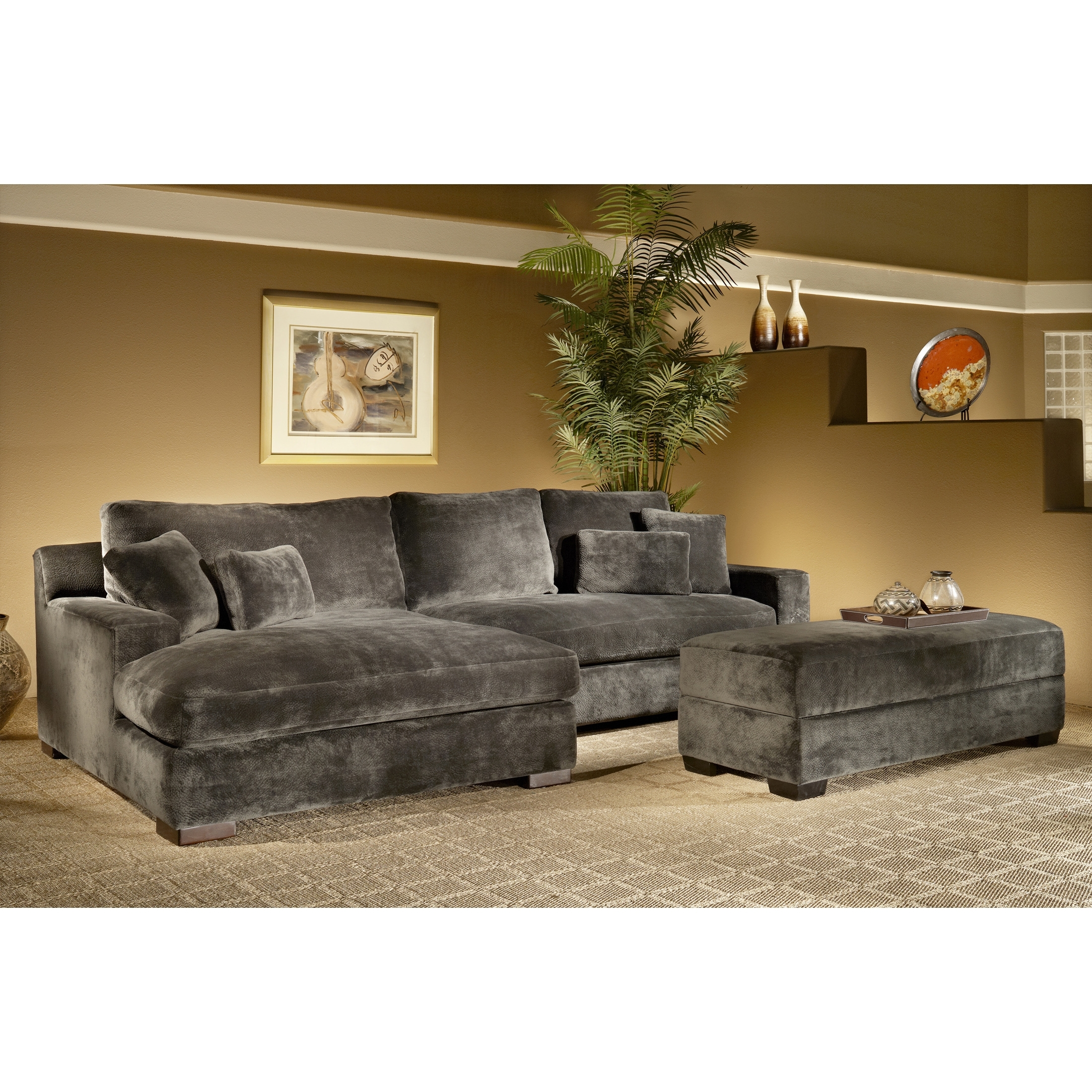 Newest The Casual Contemporary Doris Two Piece Chaise Sectional Is With Ventura County Sectional Sofas (View 8 of 20)