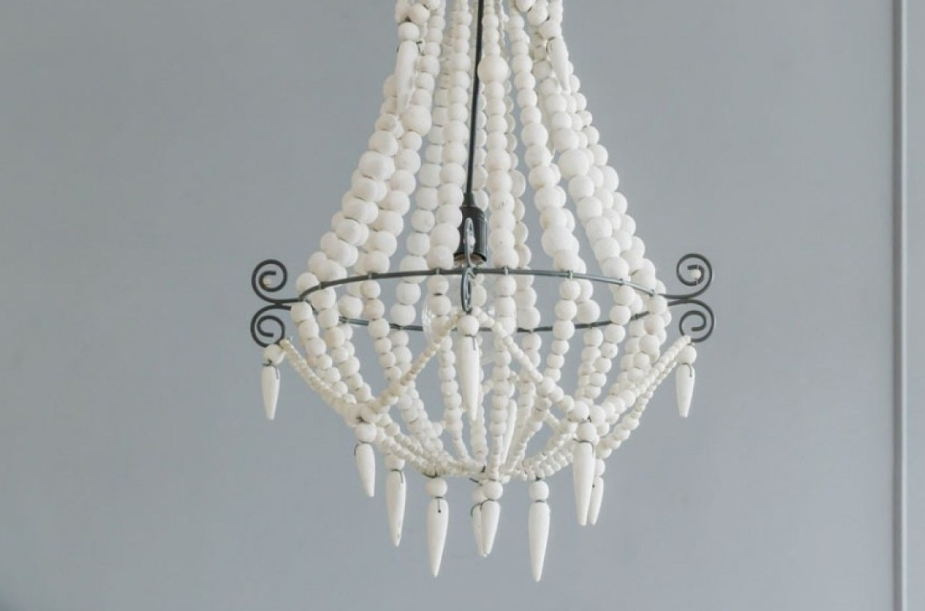 Newest Turquoise Mini Chandeliers Throughout White Wood Mini Chandelier – Chandelier Designs (View 9 of 20)