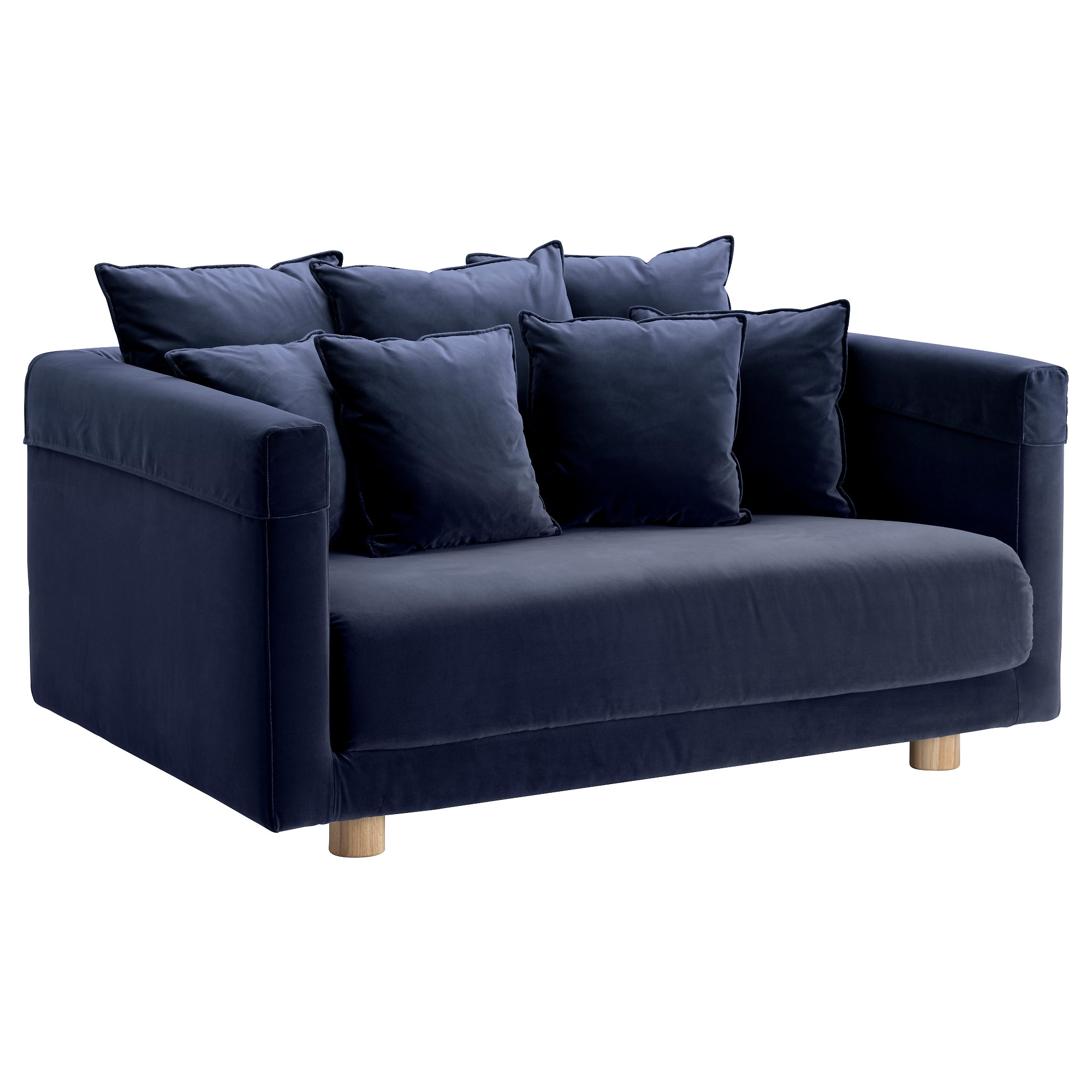 Newest Two Seater Sofas Intended For Stockholm 2017 Two Seat Sofa Sandbacka Dark Blue – Ikea (View 11 of 20)