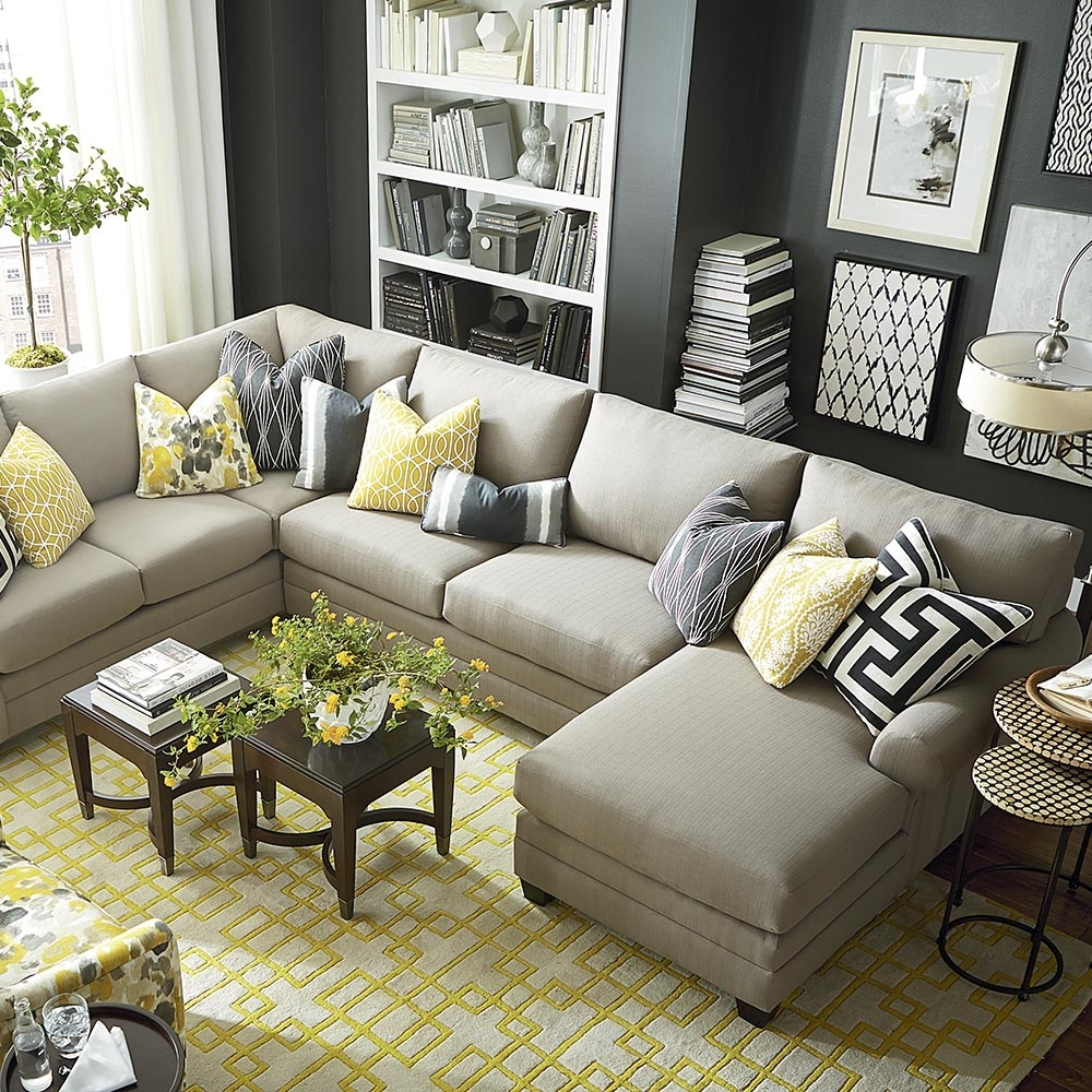 Newest U Shaped Sectional Sofas In Elegant U Shaped Sectional Sofa 16 About Remodel Sofa Room Ideas (View 14 of 20)