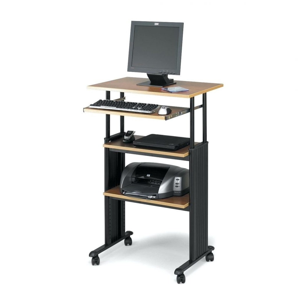Newest Vertical Computer Desks Within Computer Desks : Vertical Computer Desk Desks Target Uplift (View 8 of 20)