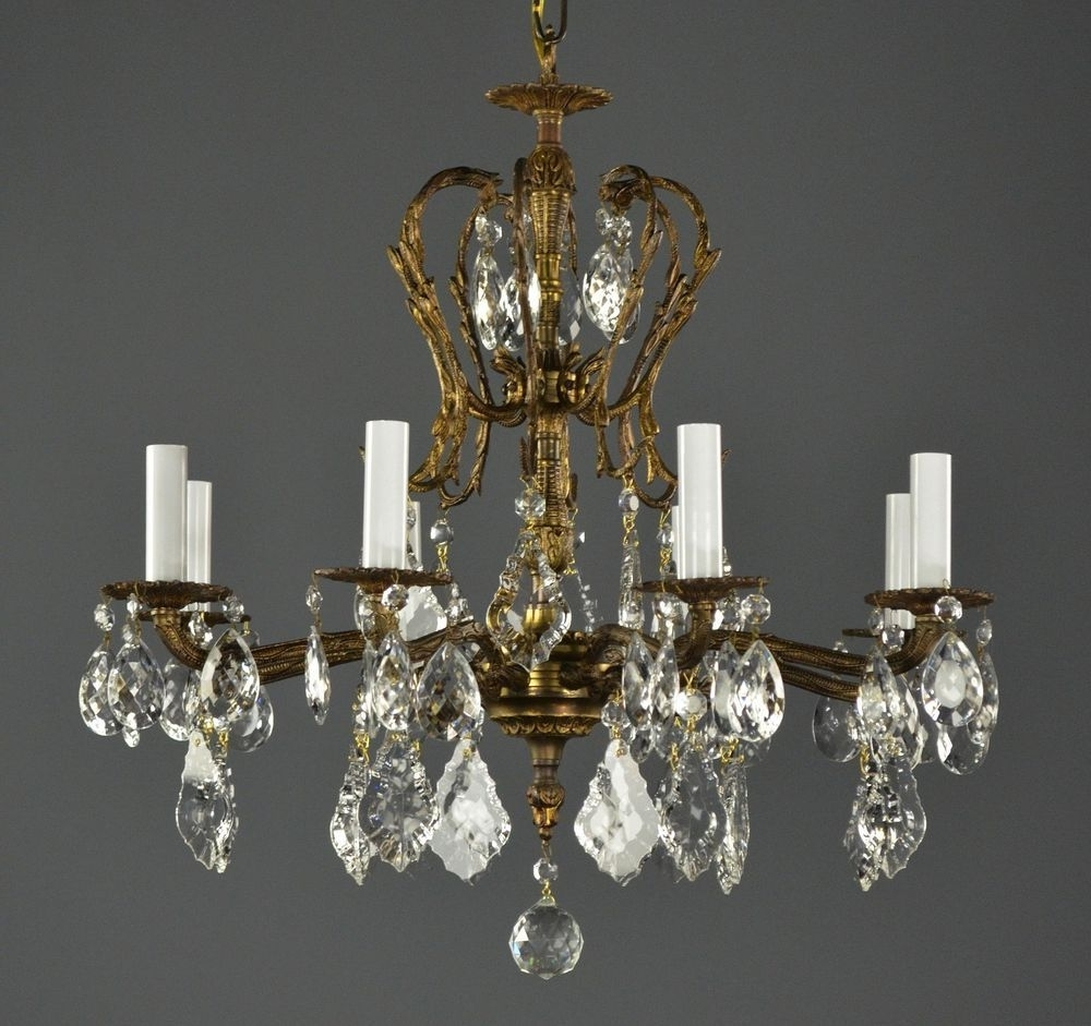 Newest Vintage Brass Chandeliers In Crystal Chandelier Spanish Brass C1950 Vintage Antique French (View 11 of 20)