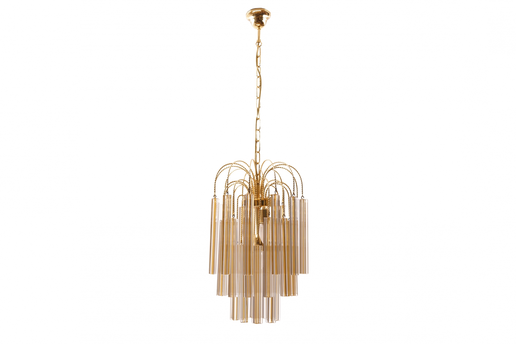 Newest Vintage Chandelier With Regard To Vintage Chandelier With Murano Glass From Venini For Sale At Pamono (View 3 of 20)