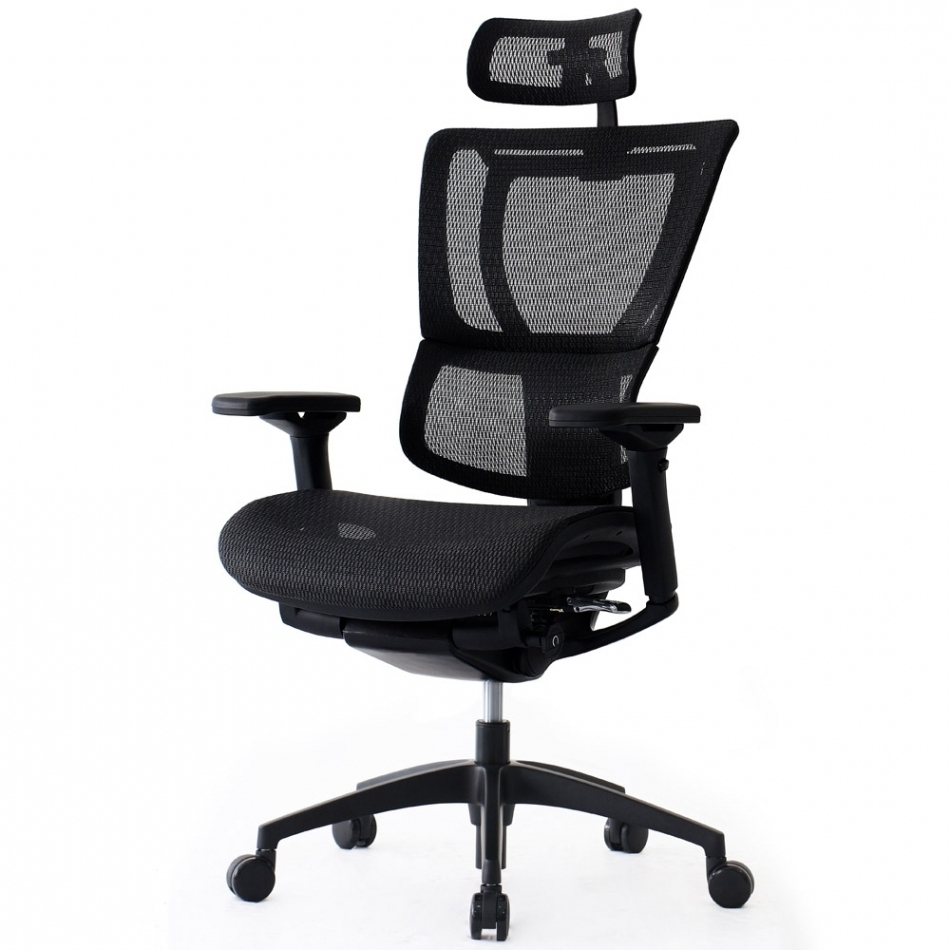 Ngear Cx9210A Black Mesh Executive Office Chair With Headrest In Most Recent Executive Office Chairs With Headrest (View 16 of 20)