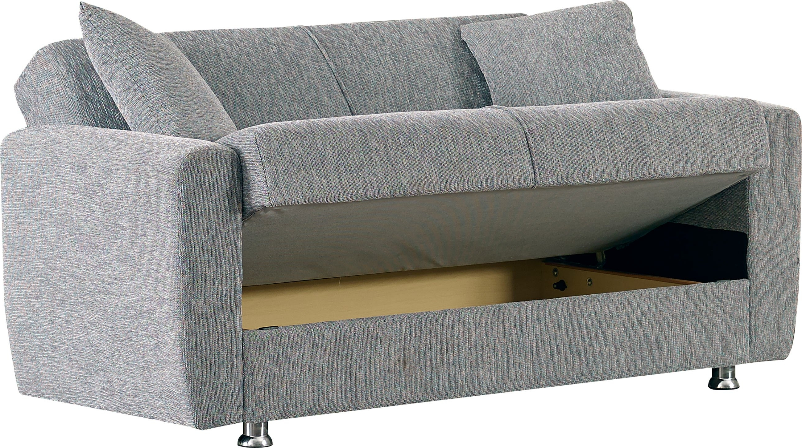 Niagara Sectional Sofas Regarding Famous Niagara Gray Fabric Loveseatempire Furniture Usa (View 7 of 20)
