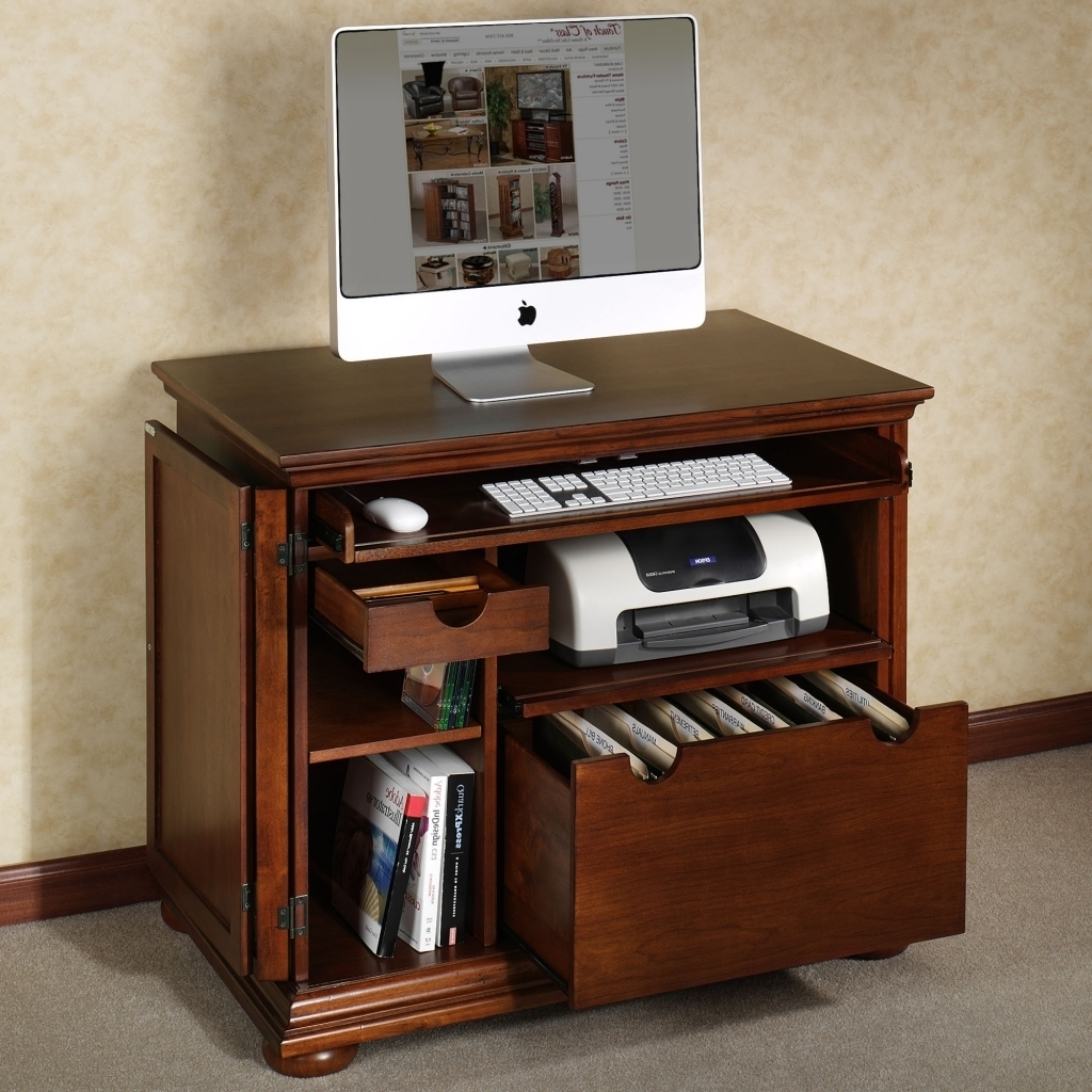 Nice Compact Computer Desk With Printer Regard To Fashionable Desks