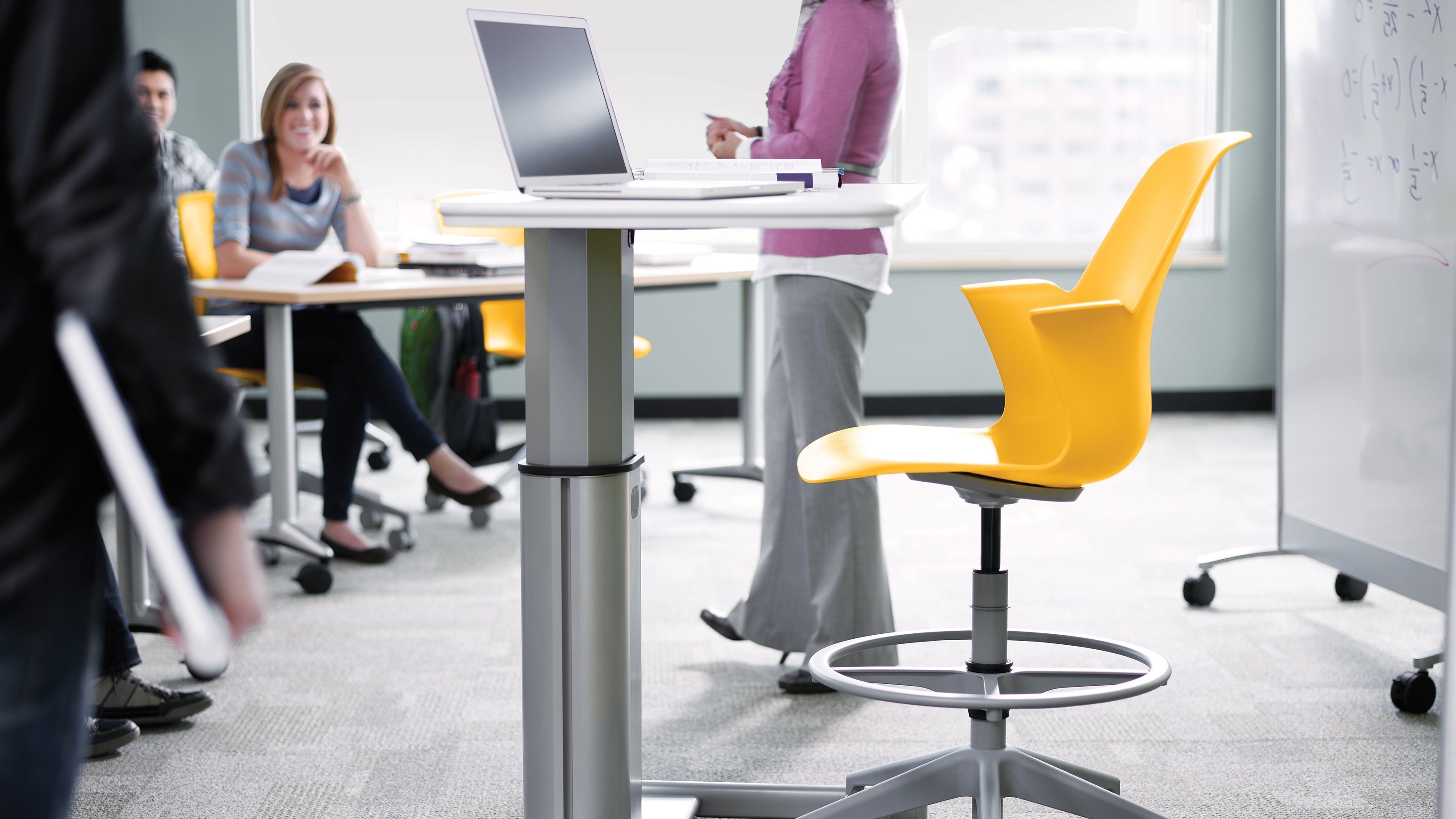 Node Desk Chairs & Classroom Furniture – Steelcase Within Fashionable Computer Desks For Schools (View 13 of 20)