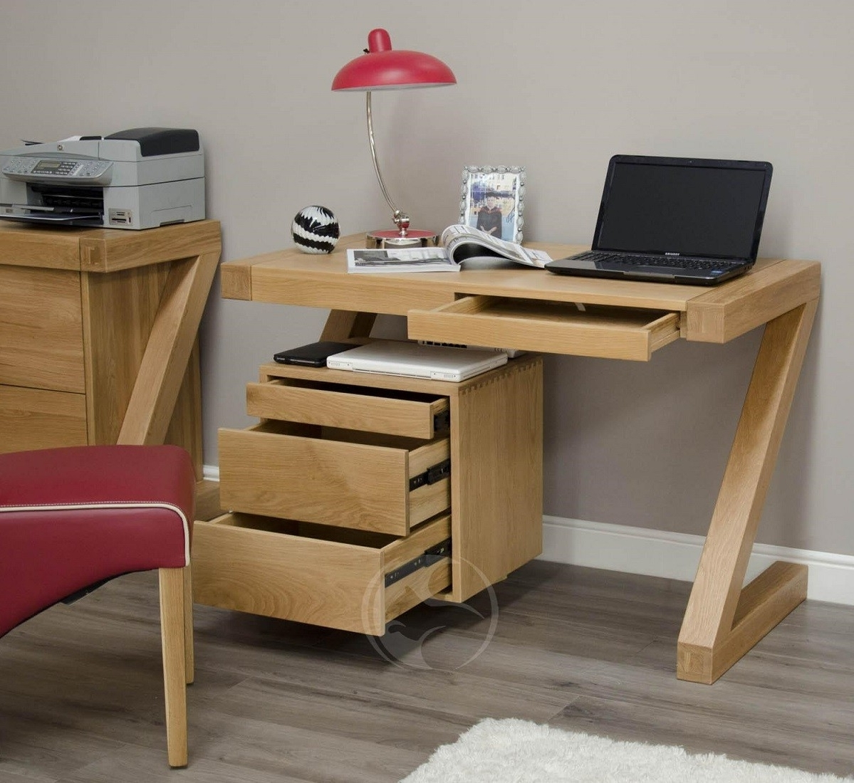 Oak Furniture Uk In Computer Desks In Oak (Gallery 4 of 20)