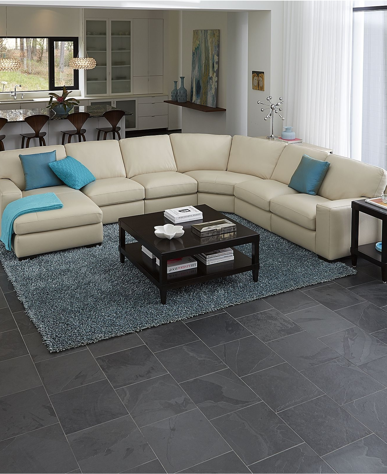 Oakville Sectional Sofas Pertaining To Most Up To Date Fabrizio Leather Sectional Sofa Living Room Furniture Collection (View 14 of 20)
