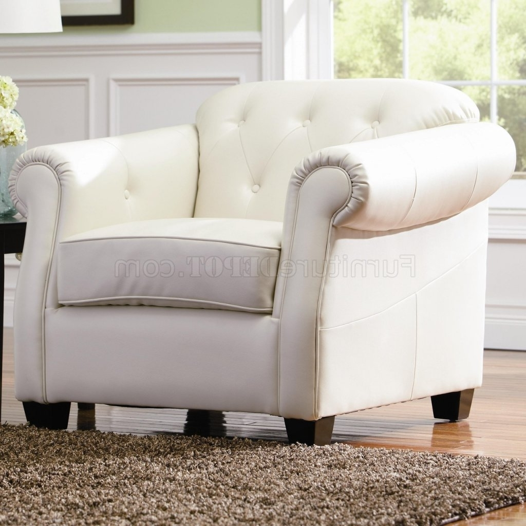 Off White Bonded Leather Sofacoaster W/options Intended For Newest Off White Leather Sofas (View 7 of 20)