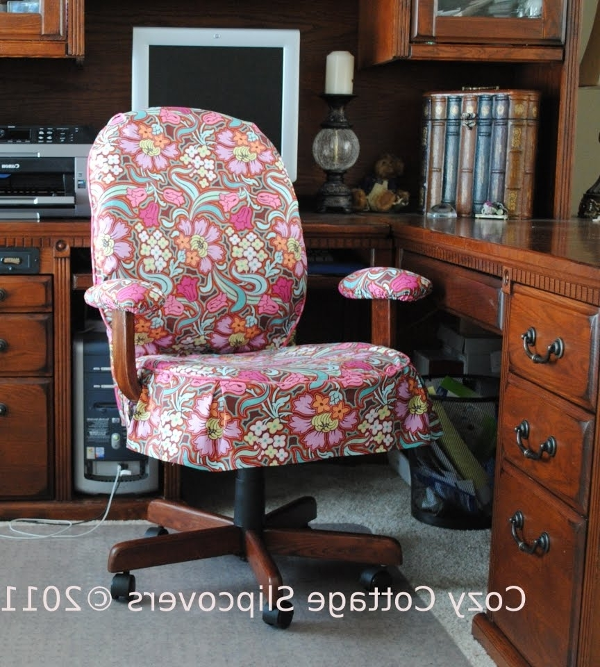 Office Chair Slipcover Tutorial And Slipcover Tips (View 12 of 20)