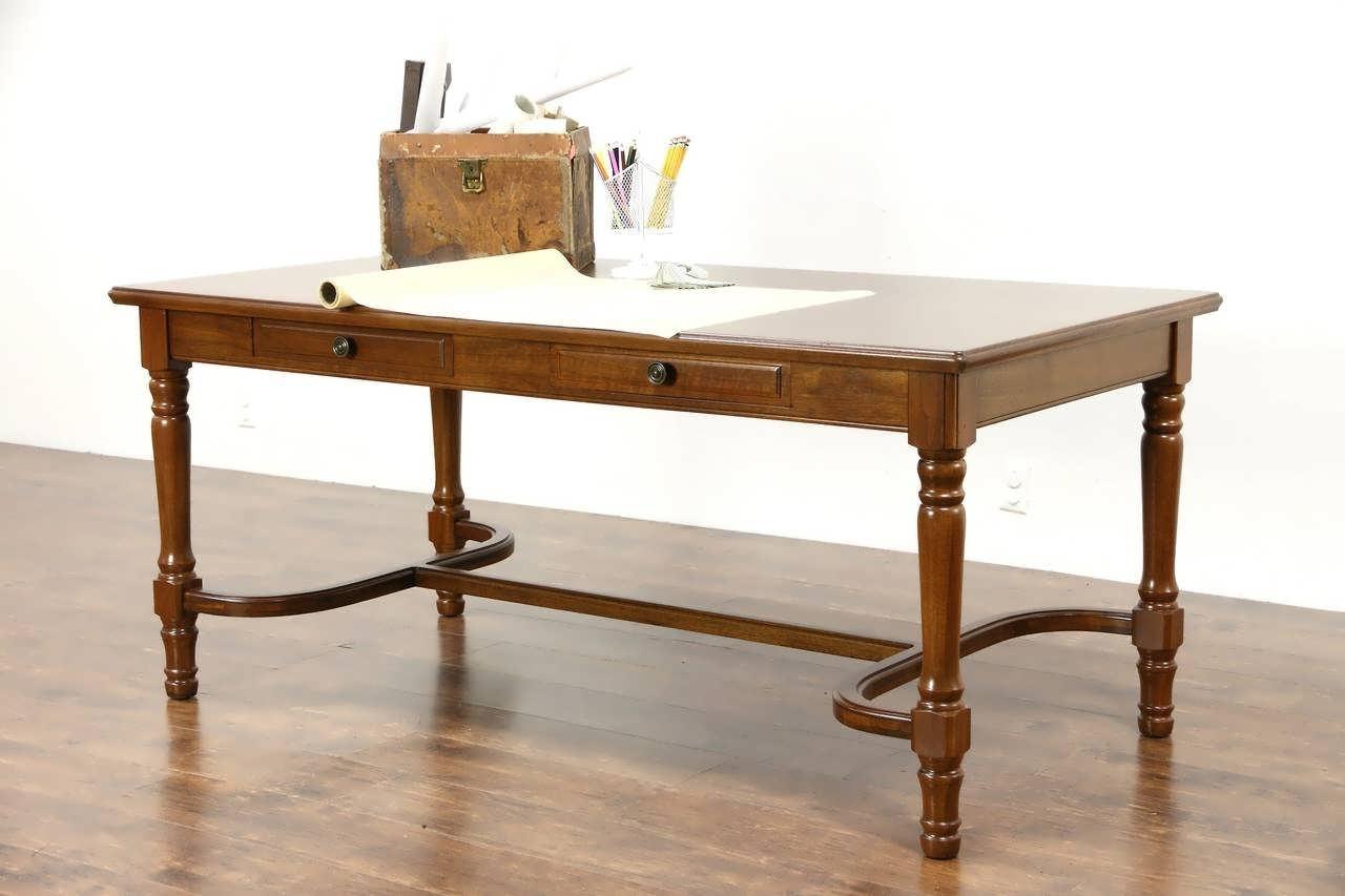 Office Desk : Long Office Desk Vintage Table Small Desk Vintage For Latest Vintage Computer Desks (View 12 of 20)