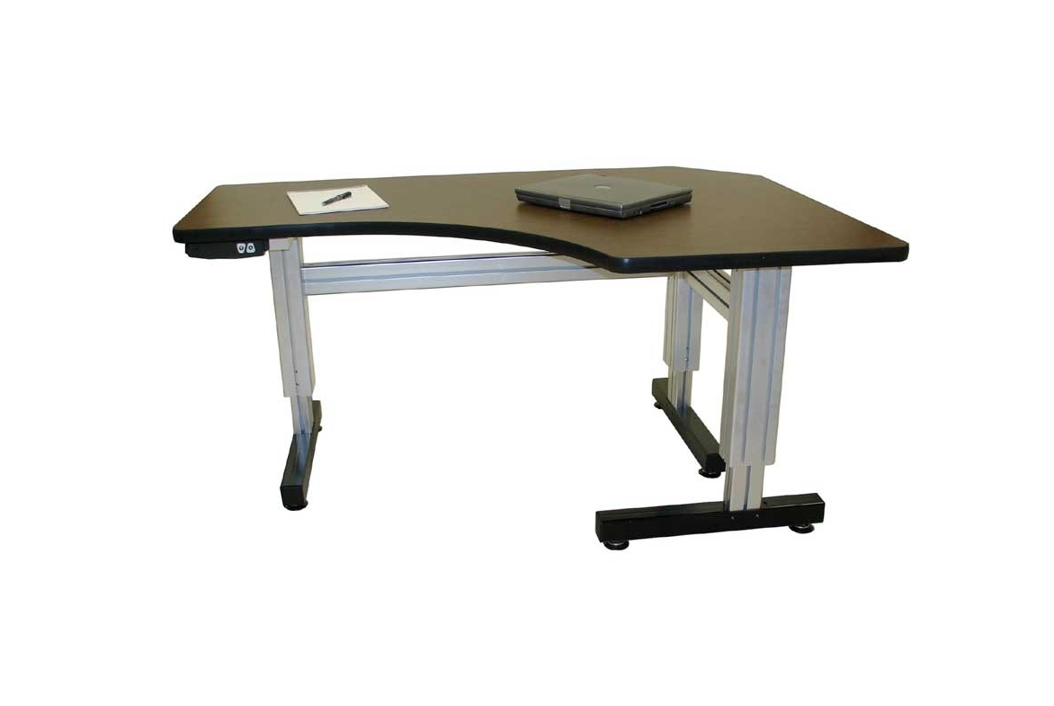 Offset Corner Electric Adjustable Height Desks – Ergosource With Regard To Well Known Ergonomic Computer Desks (View 16 of 20)