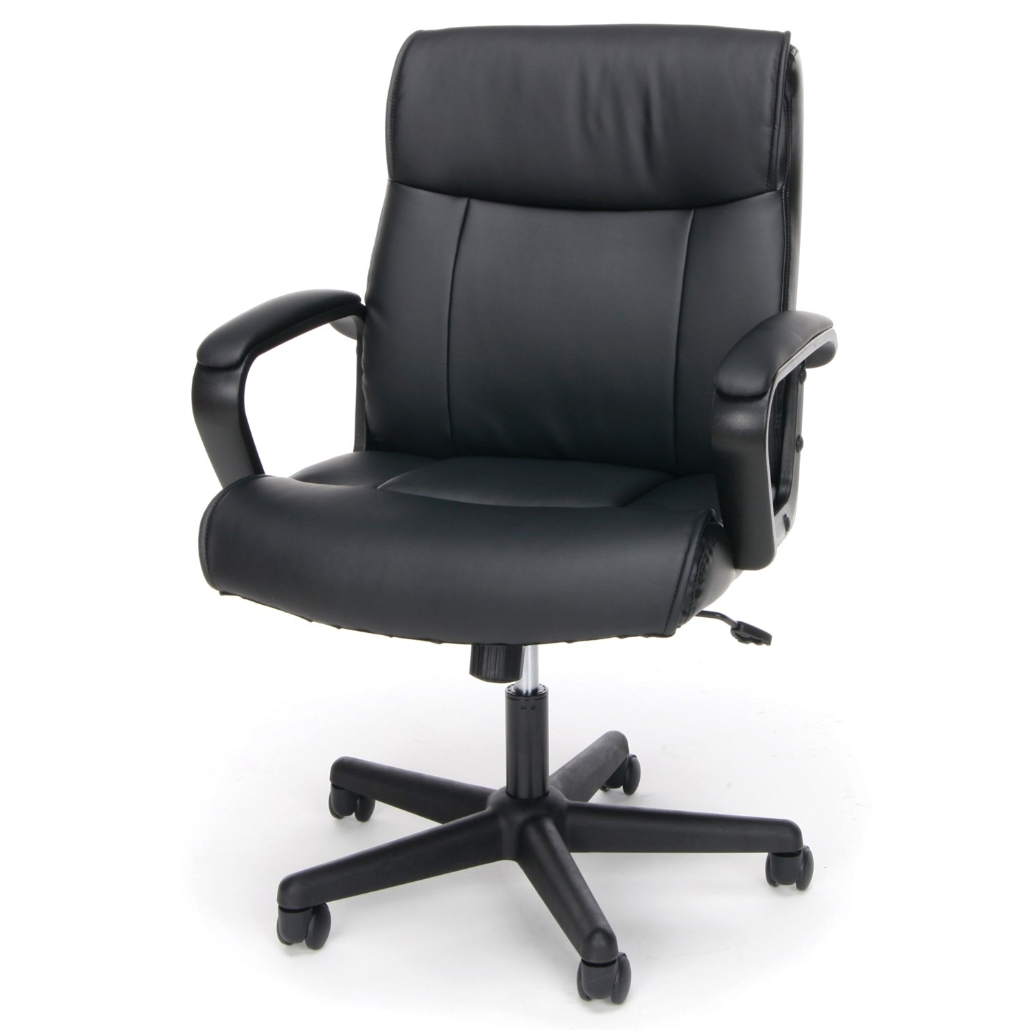 Ofm Ess 6010 Essentials Leather Executive Office Chair In Black Pertaining To Most Recent Black Executive Office Chairs (View 20 of 20)
