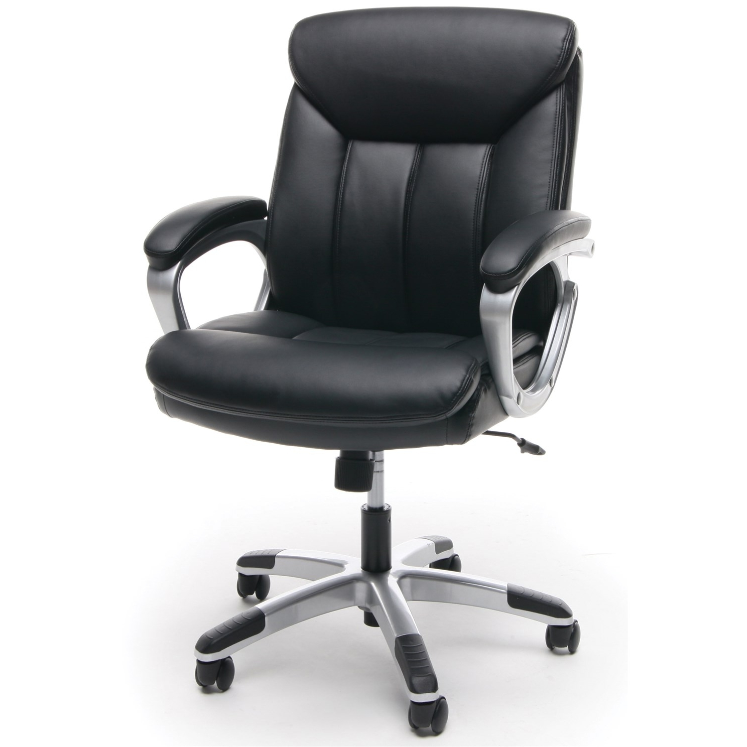Ofm Ess 6020 Essentials Leather Executive Office Chair In Black Pertaining To Favorite Executive Office Chairs Without Arms (View 15 of 20)