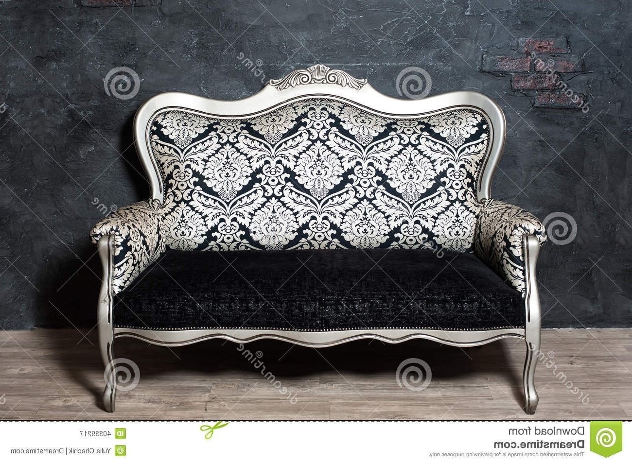 Old Fashioned Sofa Stock Image (View 14 of 20)