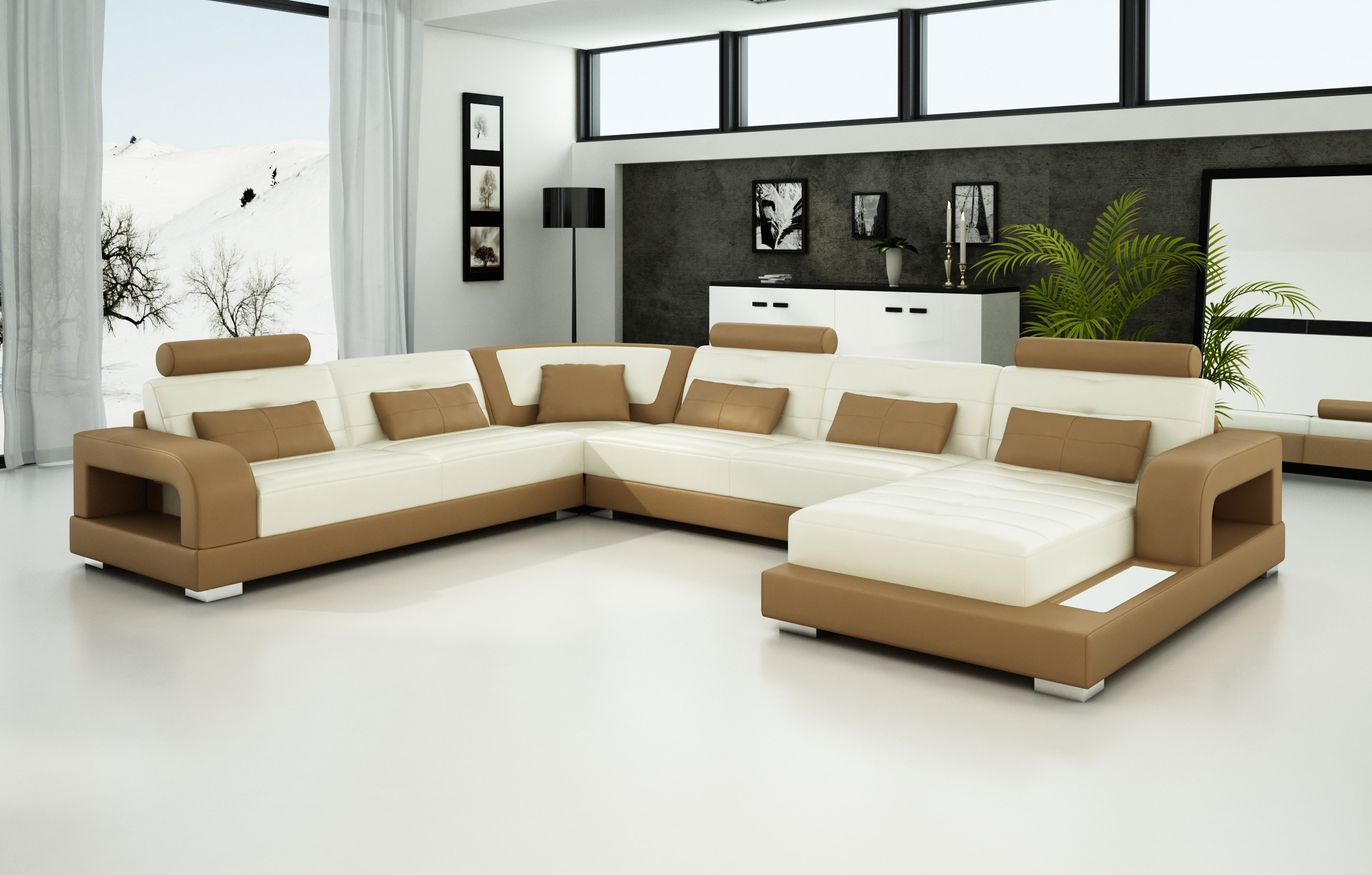 Olympian Sofas Pesaro Light Brown Leather Sofa – Sectional Sofas Intended For Well Known Trinidad And Tobago Sectional Sofas (View 6 of 20)