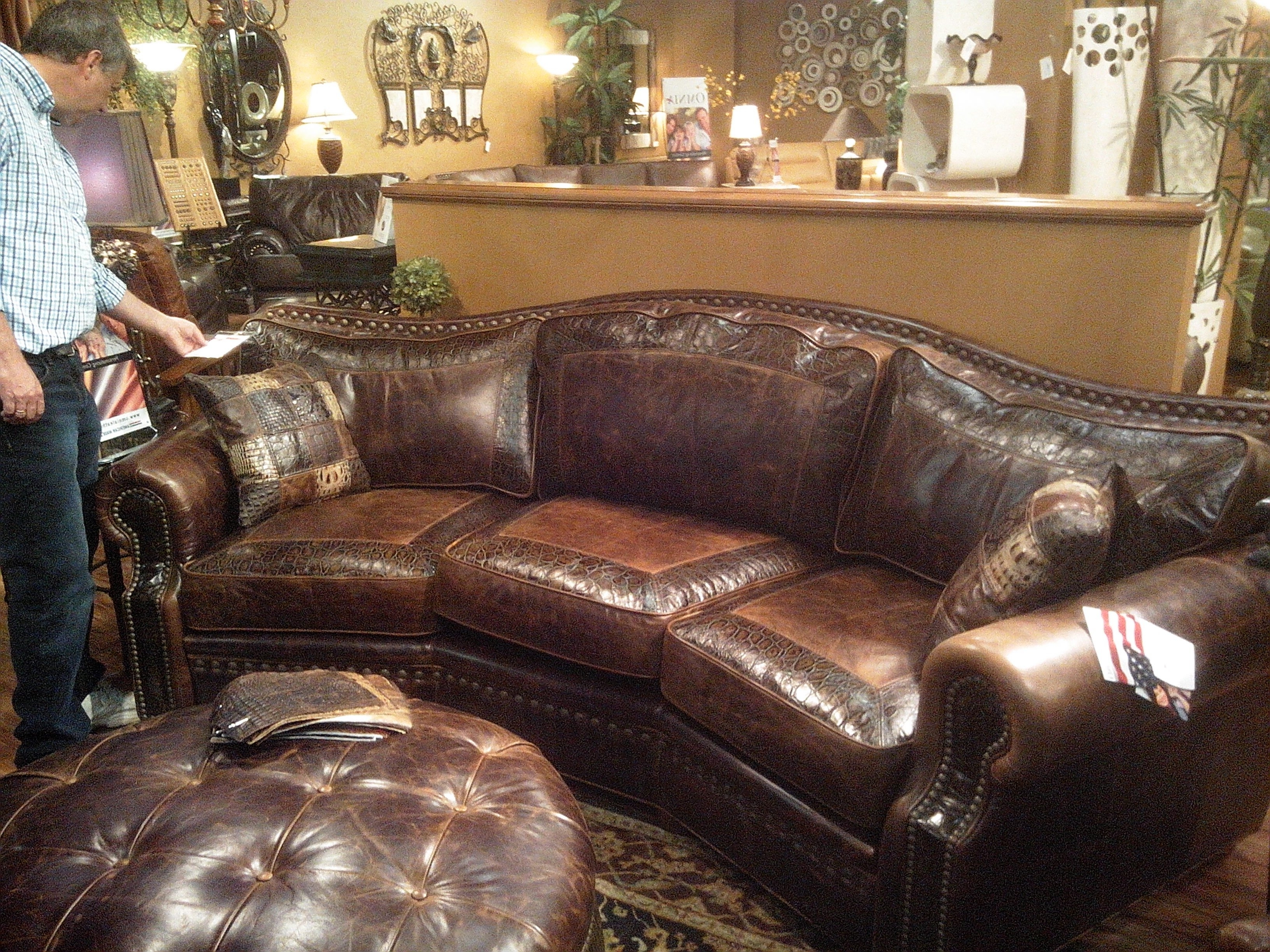 Omnia Leather Tucson Seat Conversation Couch Saw It At Recliners In Best  And Newest Tucson Sectional