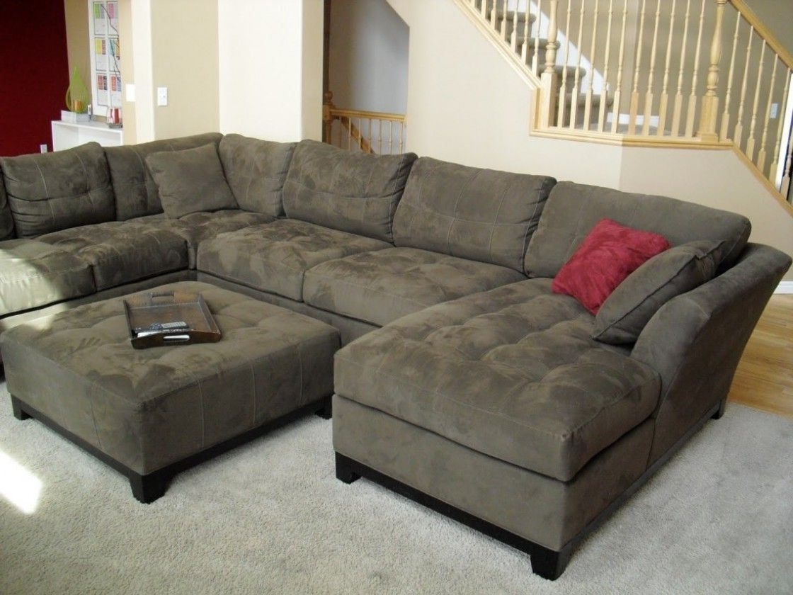 On Sale Sectional Sofas Throughout Latest Simple Living Room Decorating Ideas With Cheap U Shaped Fabric (View 4 of 20)