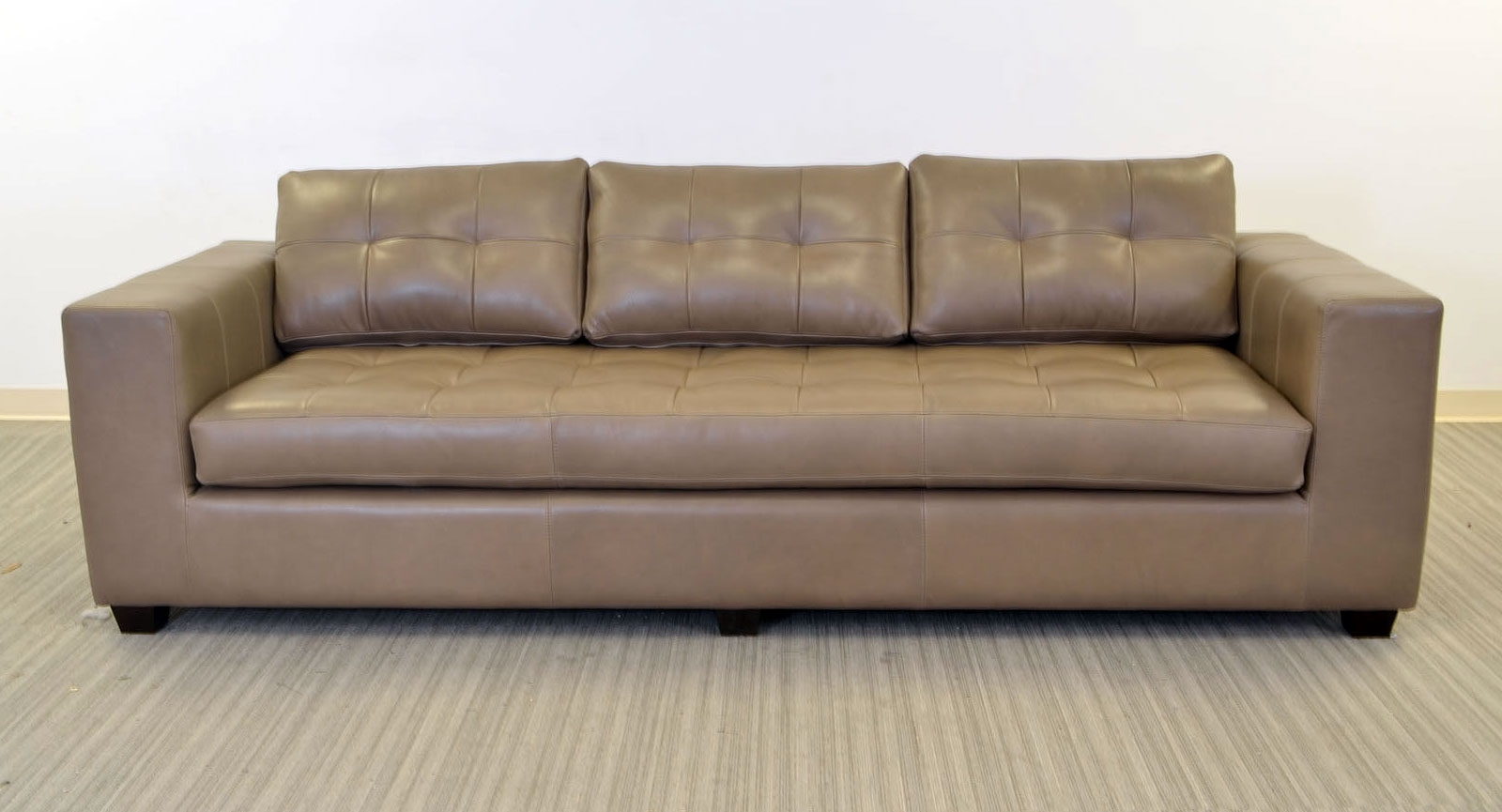 One Cushion Sofas Regarding Most Recent Gev Sofa ‹‹ The Leather Sofa Company (View 16 of 20)