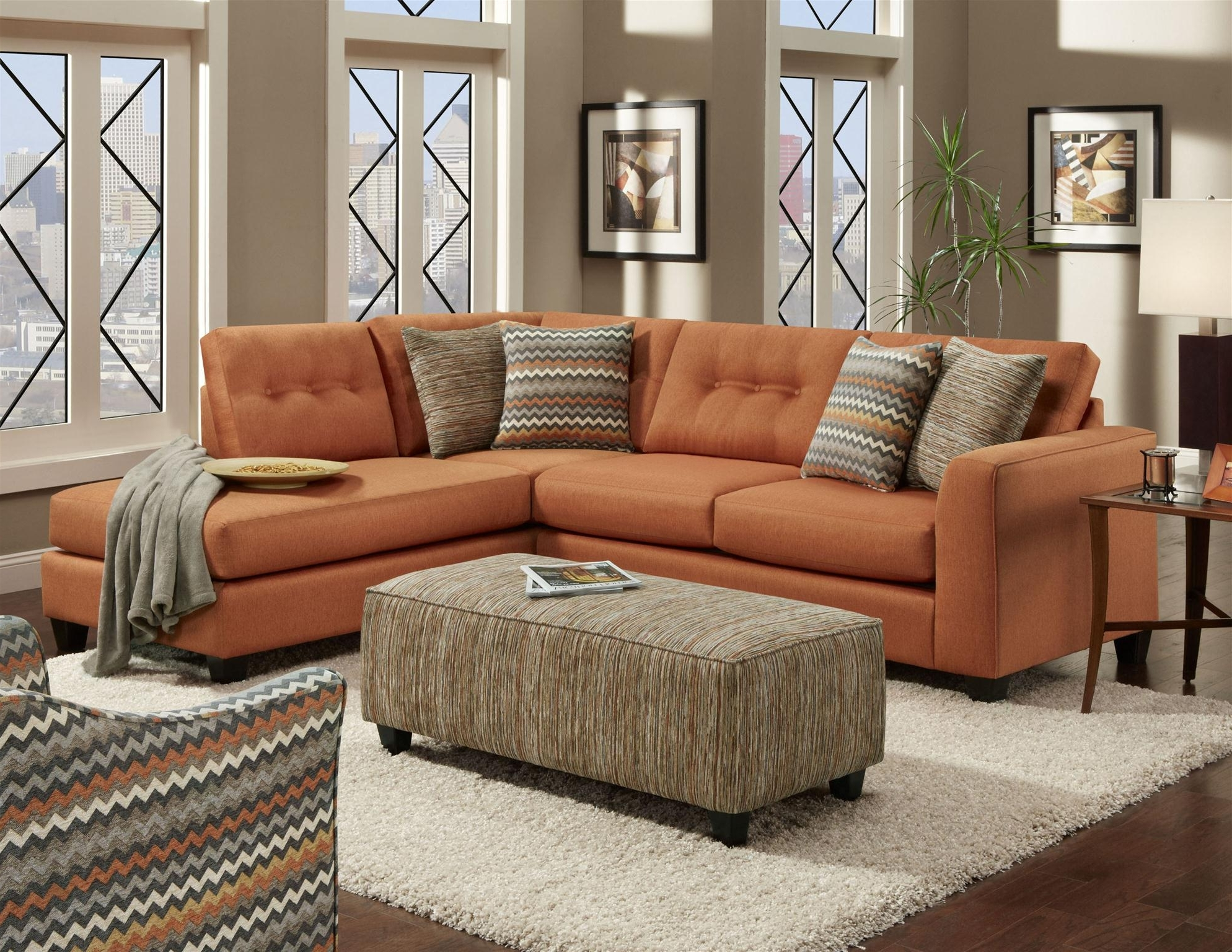 Orange Sectional Sofas Regarding Most Popular Should You Consider A Sectional? – Wg&r Furniture (View 12 of 20)