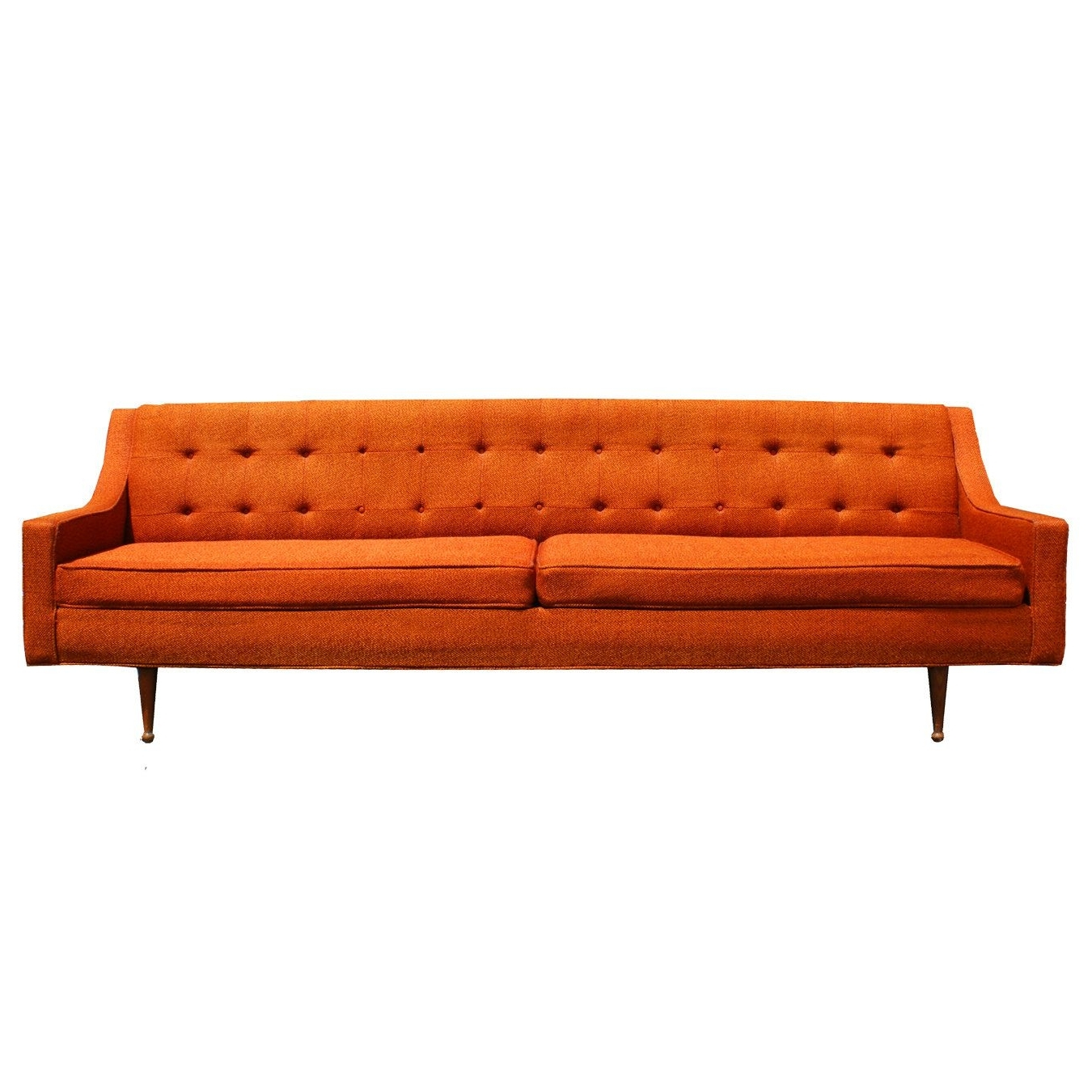 Orange Sofa, Mid Century Modern (View 11 of 20)