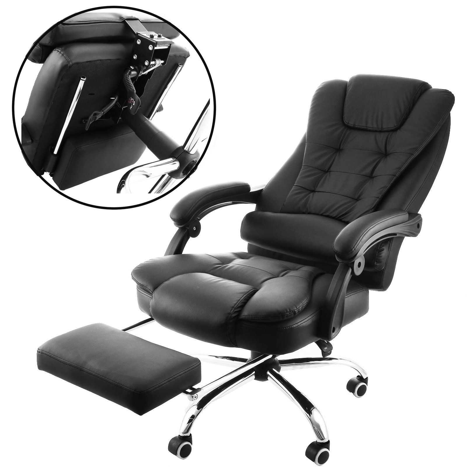 Orangea High Back Office Chair Ergonomic Pu Leather Executive In Well Known Executive Reclining Office Chairs (View 15 of 20)
