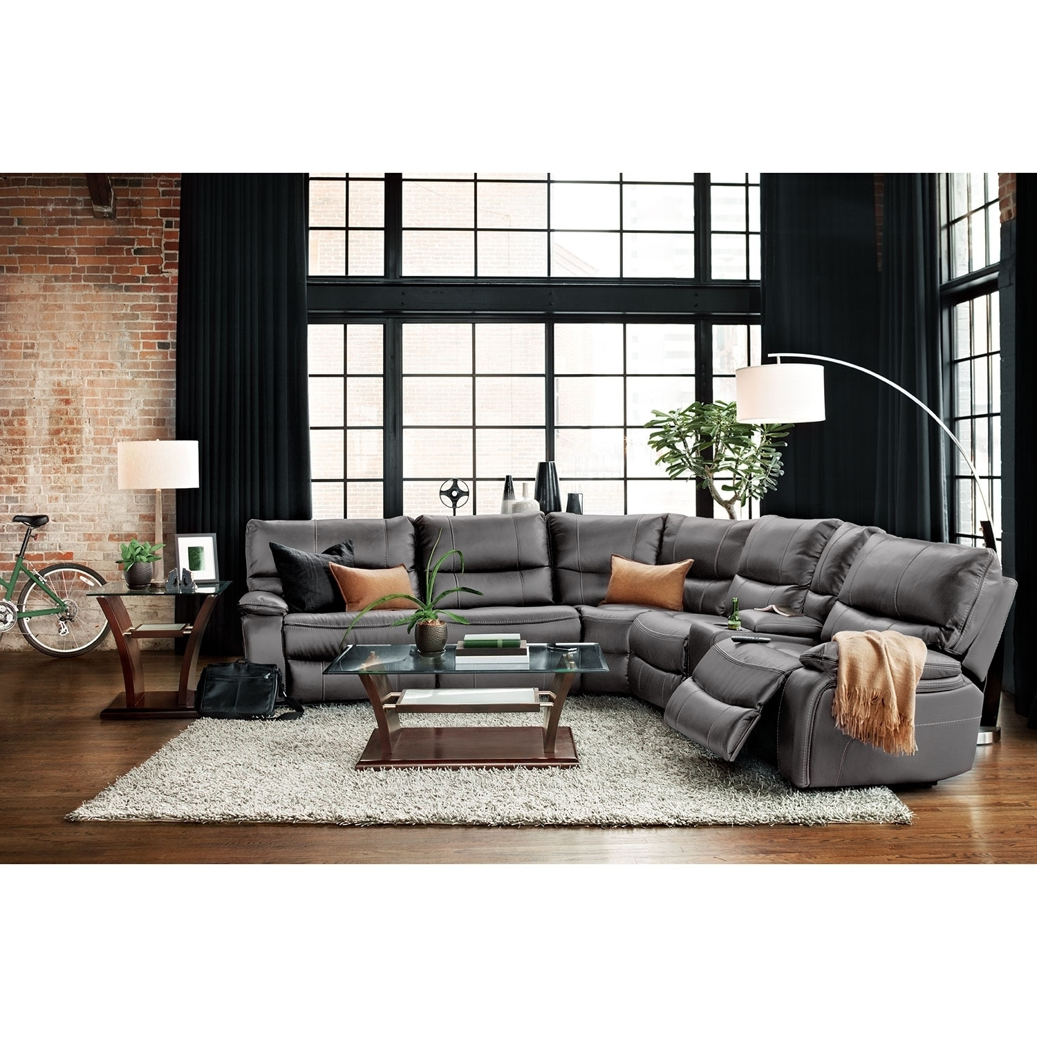 Orlando Sectional Sofas In Preferred Orlando 6 Piece Power Reclining Sectional With 1 Stationary Chair (View 7 of 20)