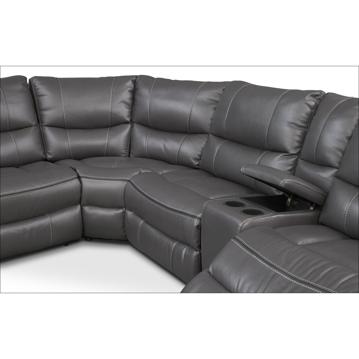 Orlando Sectional Sofas Throughout Most Recently Released Orlando 6 Piece Power Reclining Sectional With 1 Stationary Chair (View 5 of 20)