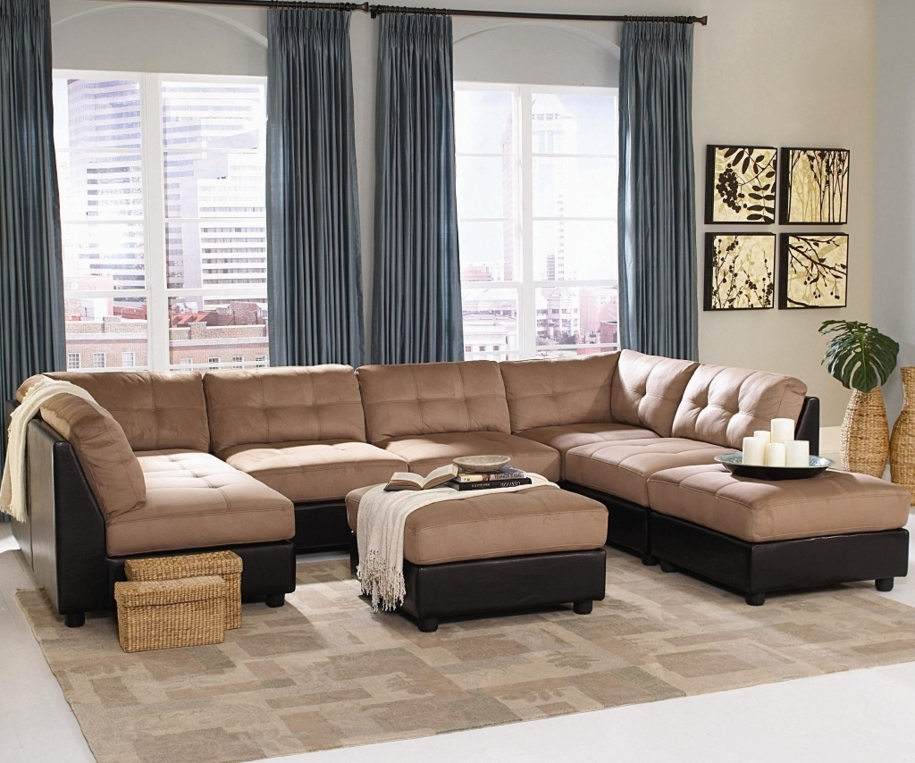 Oshawa Sectional Sofas For Most Recently Released Furniture: Microsuede Sectional Elegant Living Room Unique (View 19 of 20)