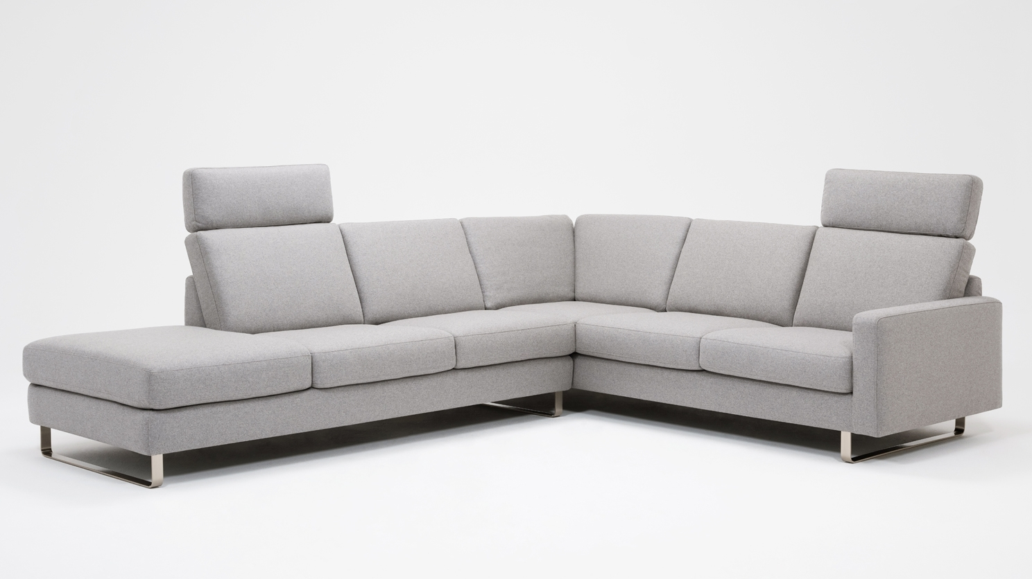 Oskar 2 Piece Sectional Sofa With Headrests – Fabric (View 12 of 20)