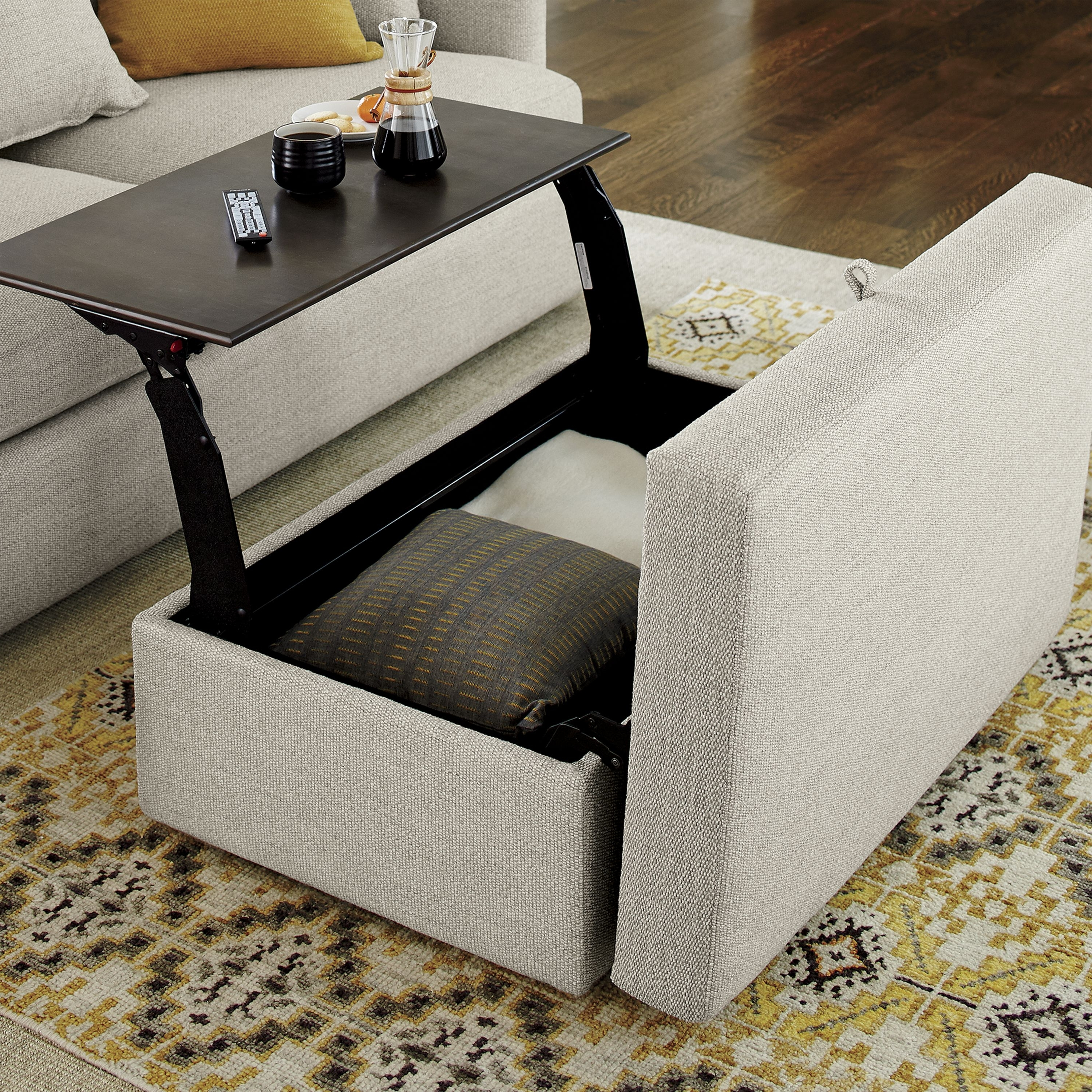 Ottomans With Tray In Fashionable Lounge Ii Storage Ottoman With Tray (View 3 of 20)