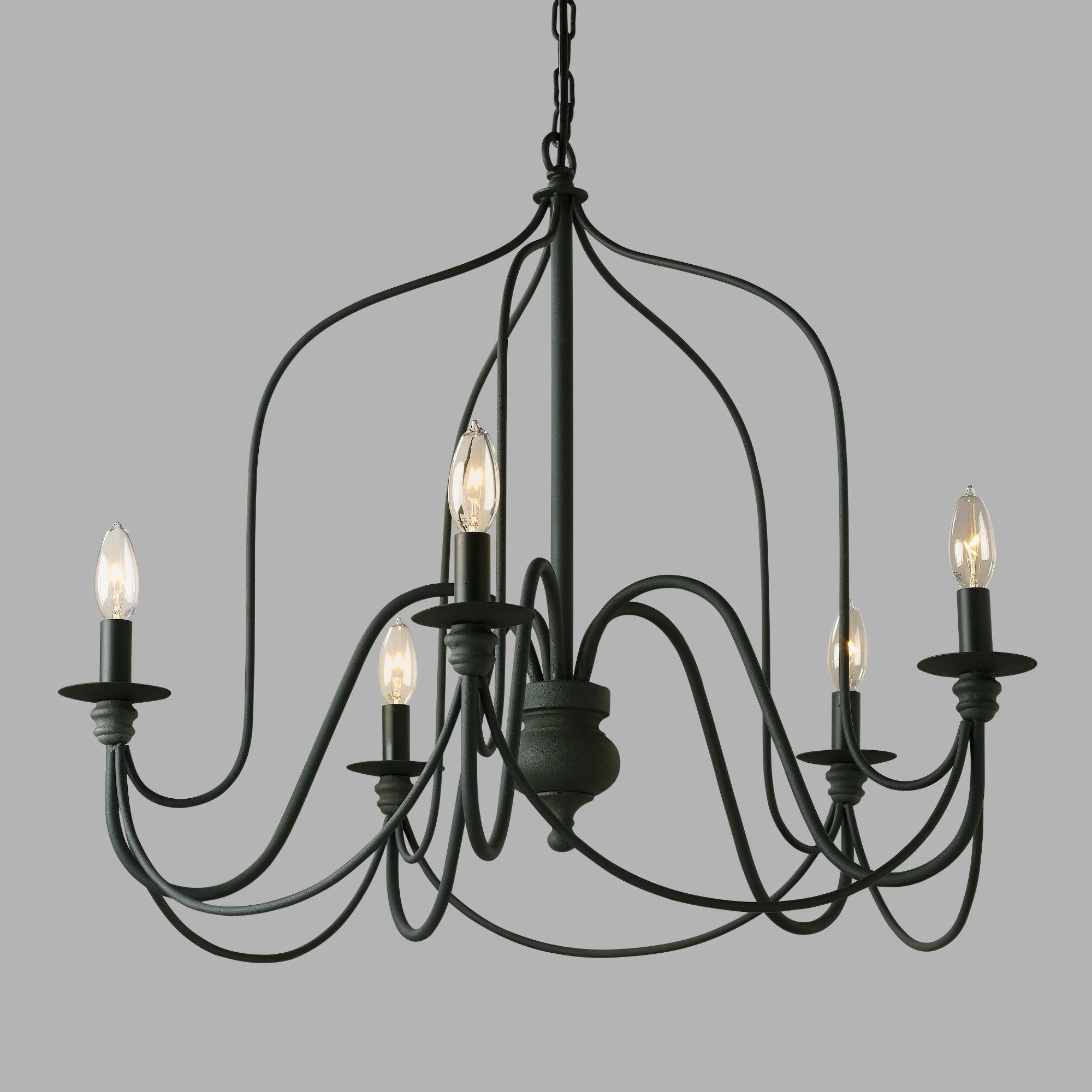 Our Exclusive Rustic Wire Chandelier Features A Slender Silhouette In Well Known Vintage Black Chandelier (View 12 of 20)