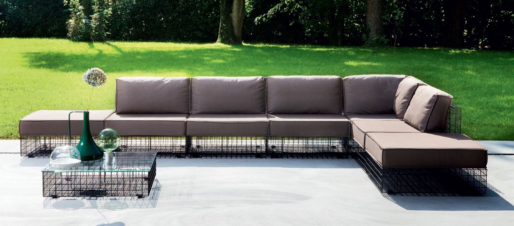 Outdoor Sofas And Chairs Within Well Liked Awesome Modern Metal Garden Furniture Contemporary – Liltigertoo (View 8 of 20)