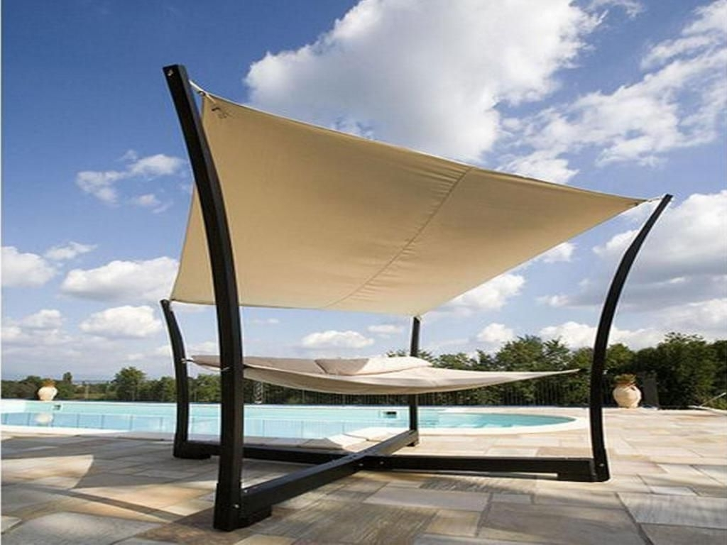Outdoor Sofas With Canopy Pertaining To Fashionable Outdoor Furniture Stunning Canopy Bed Design With Beautiful Cross (View 12 of 20)