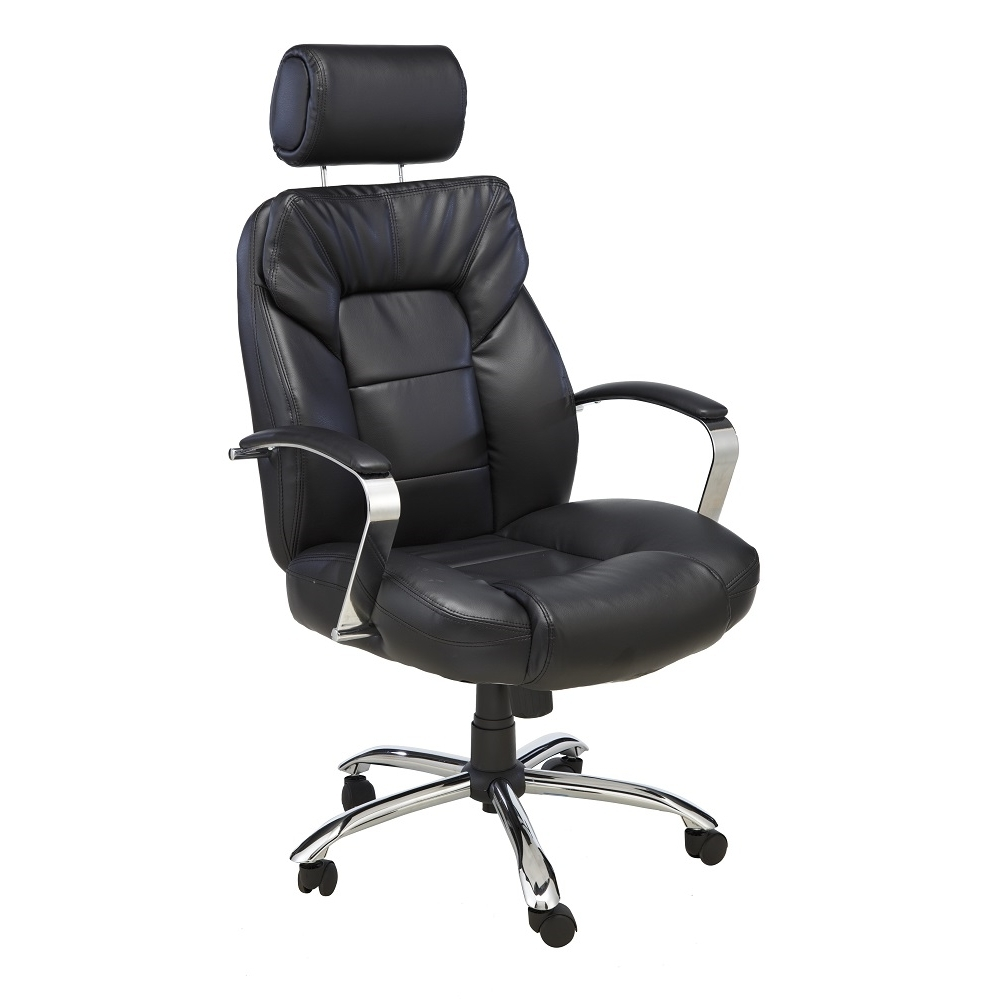 Oversized Executive Office Chairs Intended For Most Popular Oversize Leather Chair With Adjustable Headrest – Comfort Products (View 14 of 20)