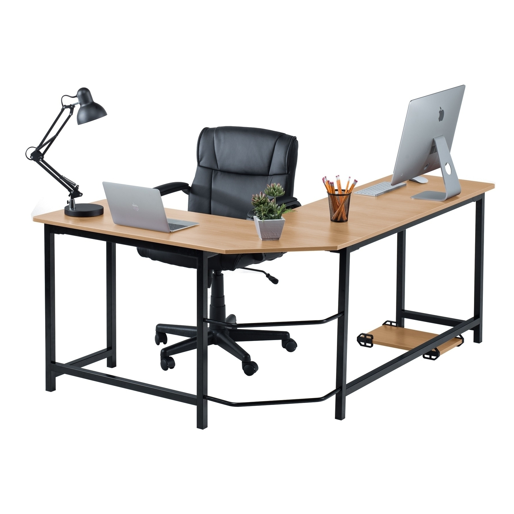 Overstock Inside Widely Used L Shaped Computer Desks (View 13 of 20)
