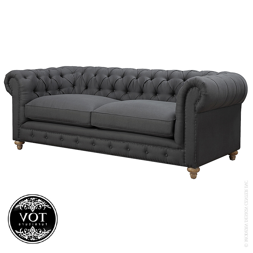 Oxford Grey Linen Sofa (View 12 of 20)