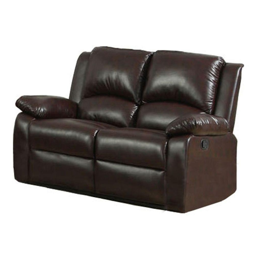 Oxford Sofas Pertaining To Current Furniture Of America Oxford Rustic Dark Brown Faux Leather Sofa (View 13 of 20)