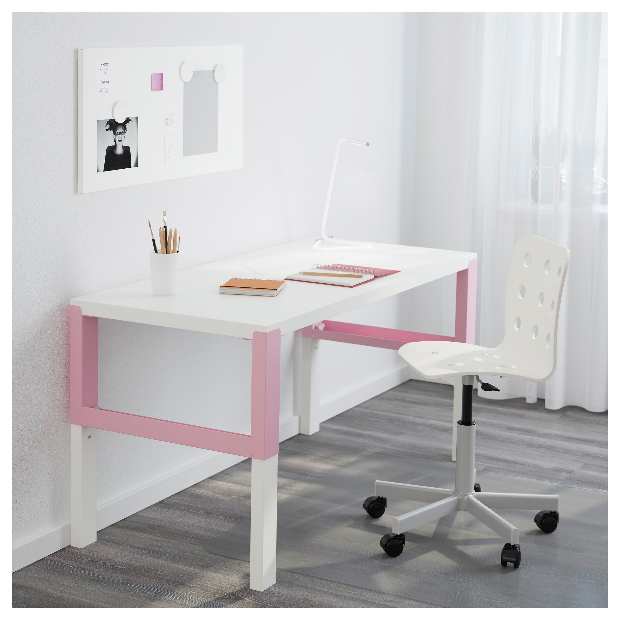 Påhl Desk – White/pink – Ikea Throughout 2018 Pink Computer Desks (View 11 of 20)