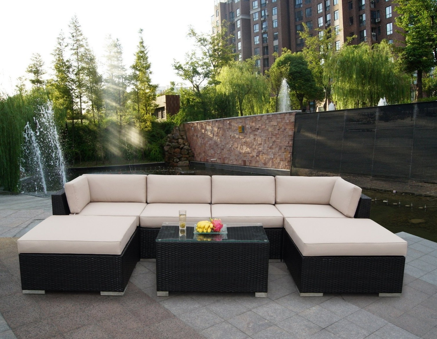Patio Sofas Intended For Preferred Enjoy Having Outdoor Patio Sets At Your Lawn – Bellissimainteriors (View 10 of 20)
