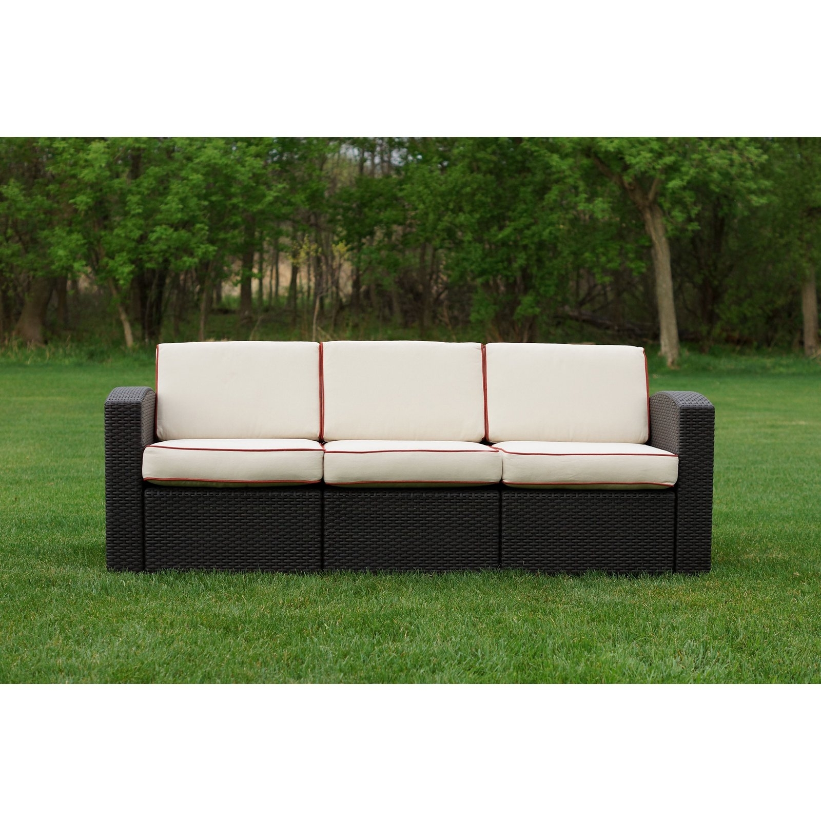 Patio Sofas Pertaining To Latest Strata Furniture Cielo Patio Wicker Sofa (View 17 of 20)