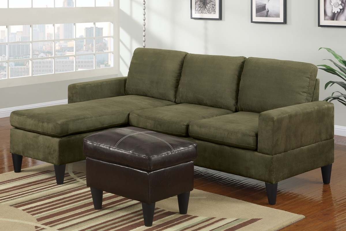 Perfect Green Sectional Sofa With Chaise 29 On Black Suede Intended For Recent Green Sectional Sofas (View 17 of 20)