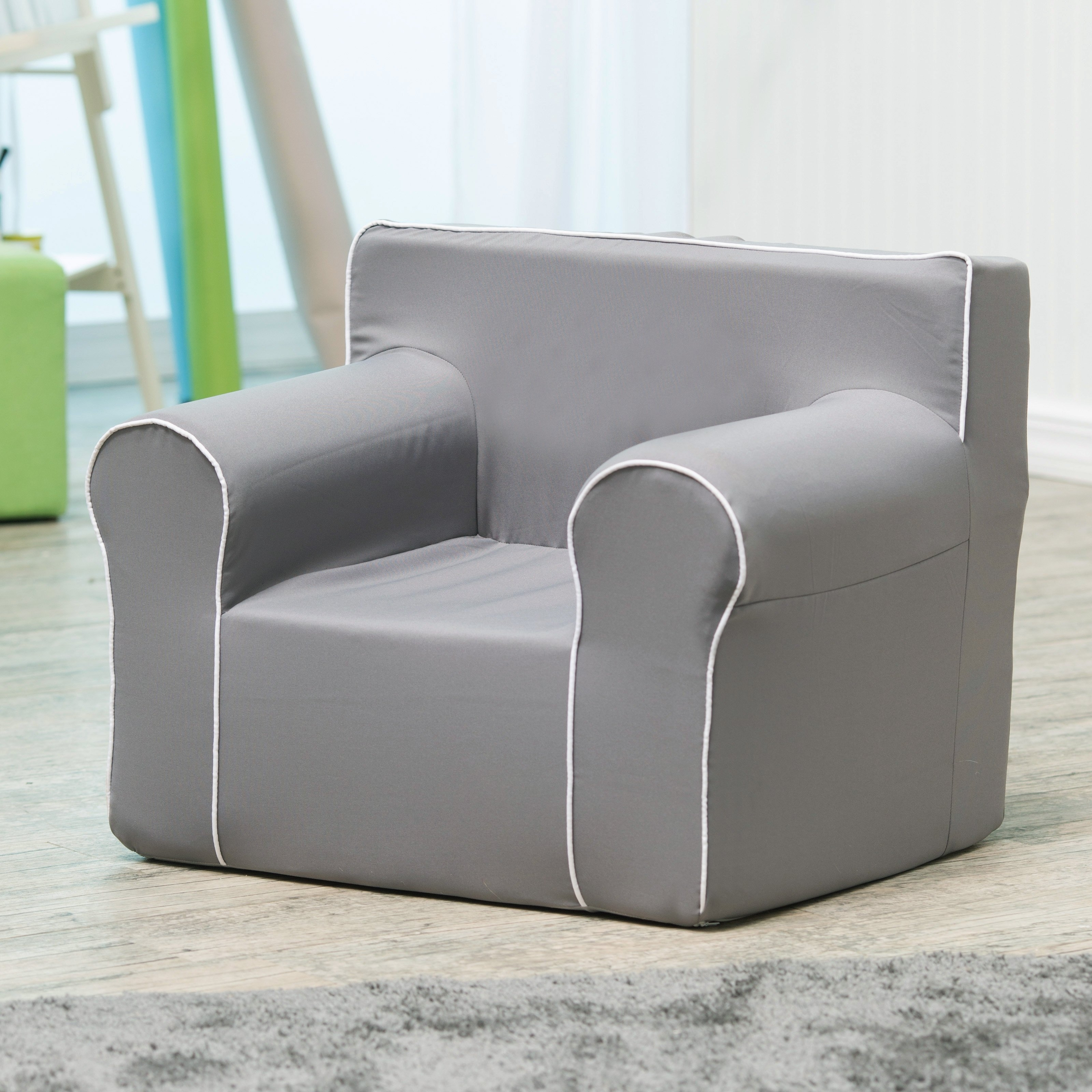 Personalized Kids Chairs And Sofas With Recent Here And There Personalized Kids Chair – Gray Canvas (View 10 of 20)