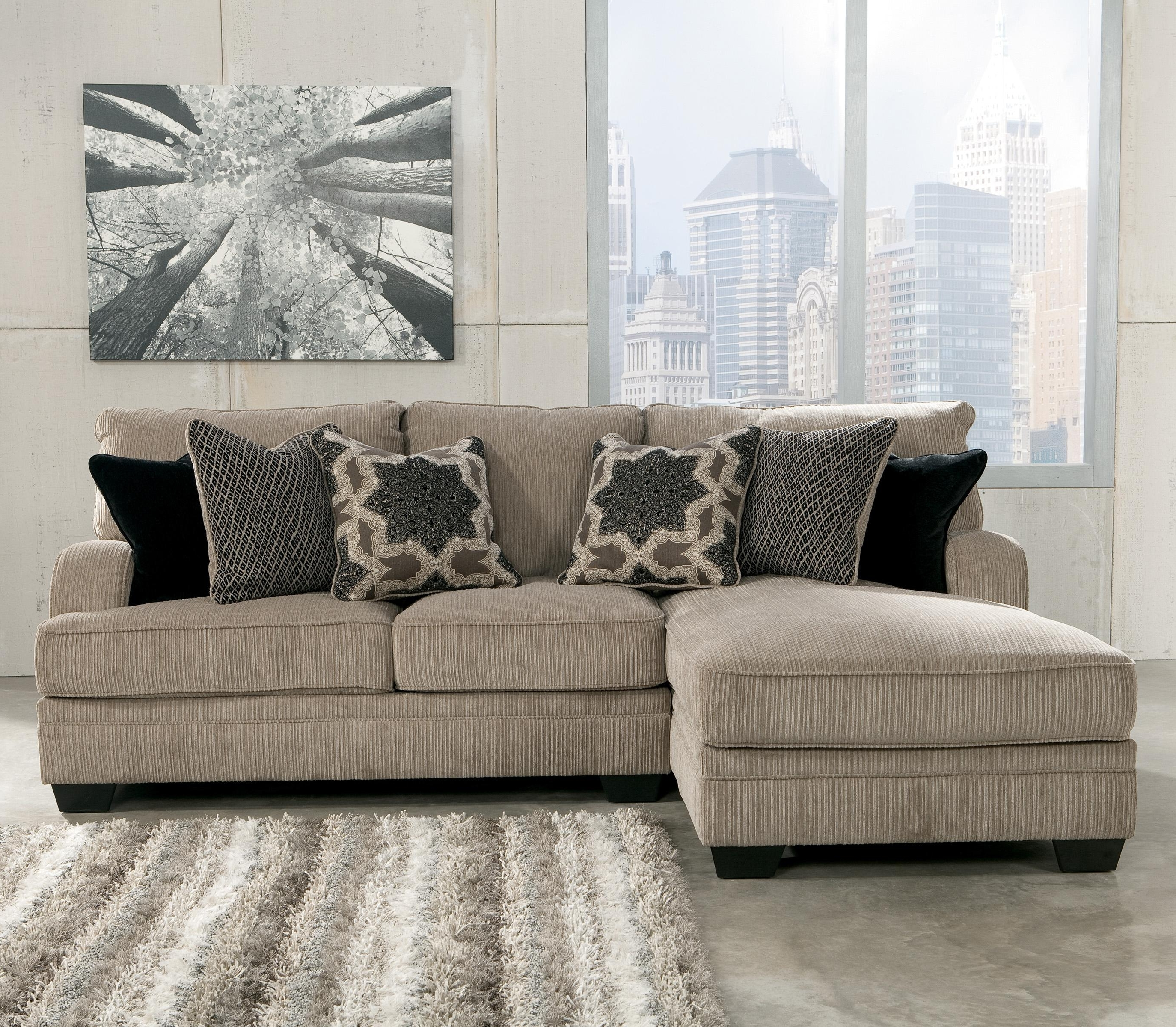 Peterborough Ontario Sectional Sofas Regarding Best And Newest Signature Designashley Katisha – Platinum 2 Piece Sectional (View 9 of 20)