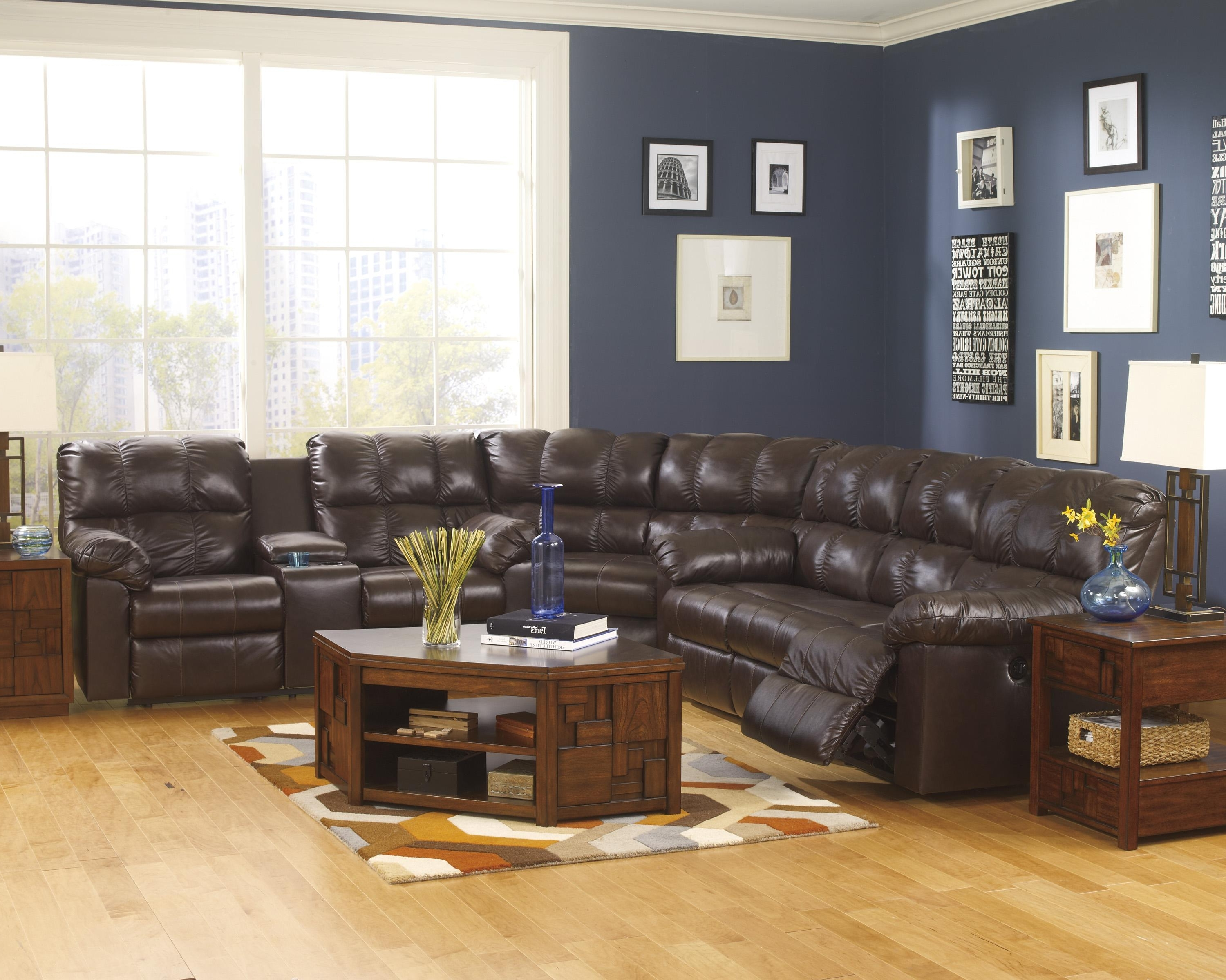 Peterborough Ontario Sectional Sofas Throughout Popular Signature Designashley Kennard – Chocolate Power Reclining (View 11 of 20)